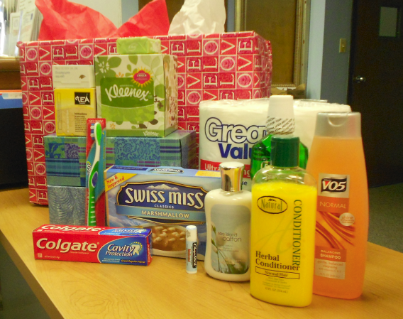 Personal Care Items that the seniors, of HSP's Senior Citizen Project, receive.