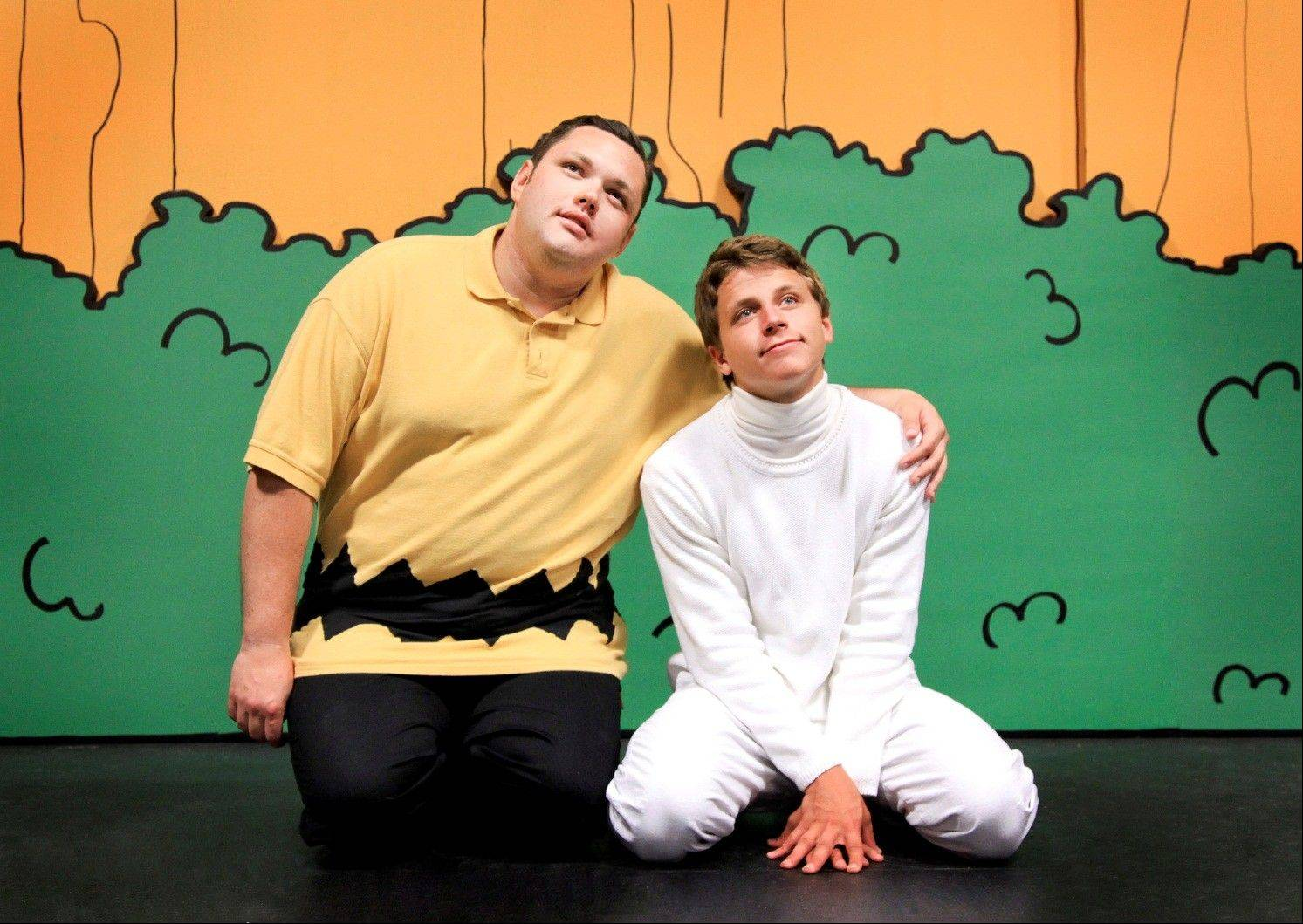 "The ""Peanuts"" cartoon comes to life with Will Loftus, left, of Bensenville, and Michael Sherry of St. Charles during ECC Musical Theatre's production of ""You're a Good Man, Charlie Brown"" this summer."