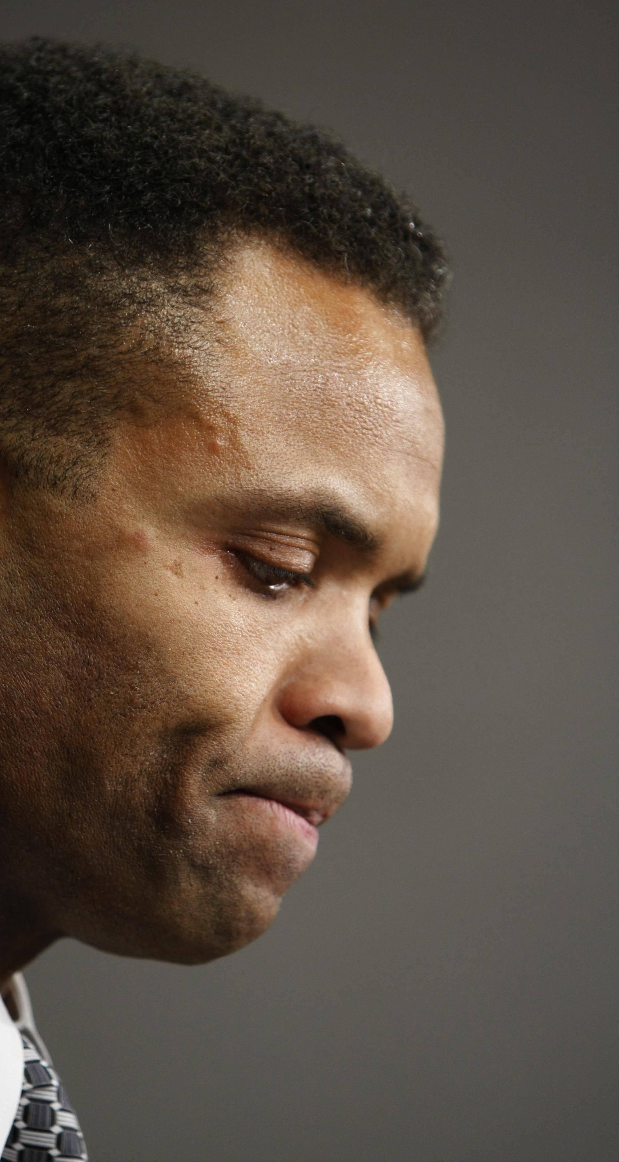 Rep. Jesse Jackson, Jr., D-Ill., seen here during a news conference on Capitol Hill in Washington, Dec. 10, 2008, is facing a 'debilitating' depression, according to comments his wife, Sandi Jackson made to the Sun-Times.