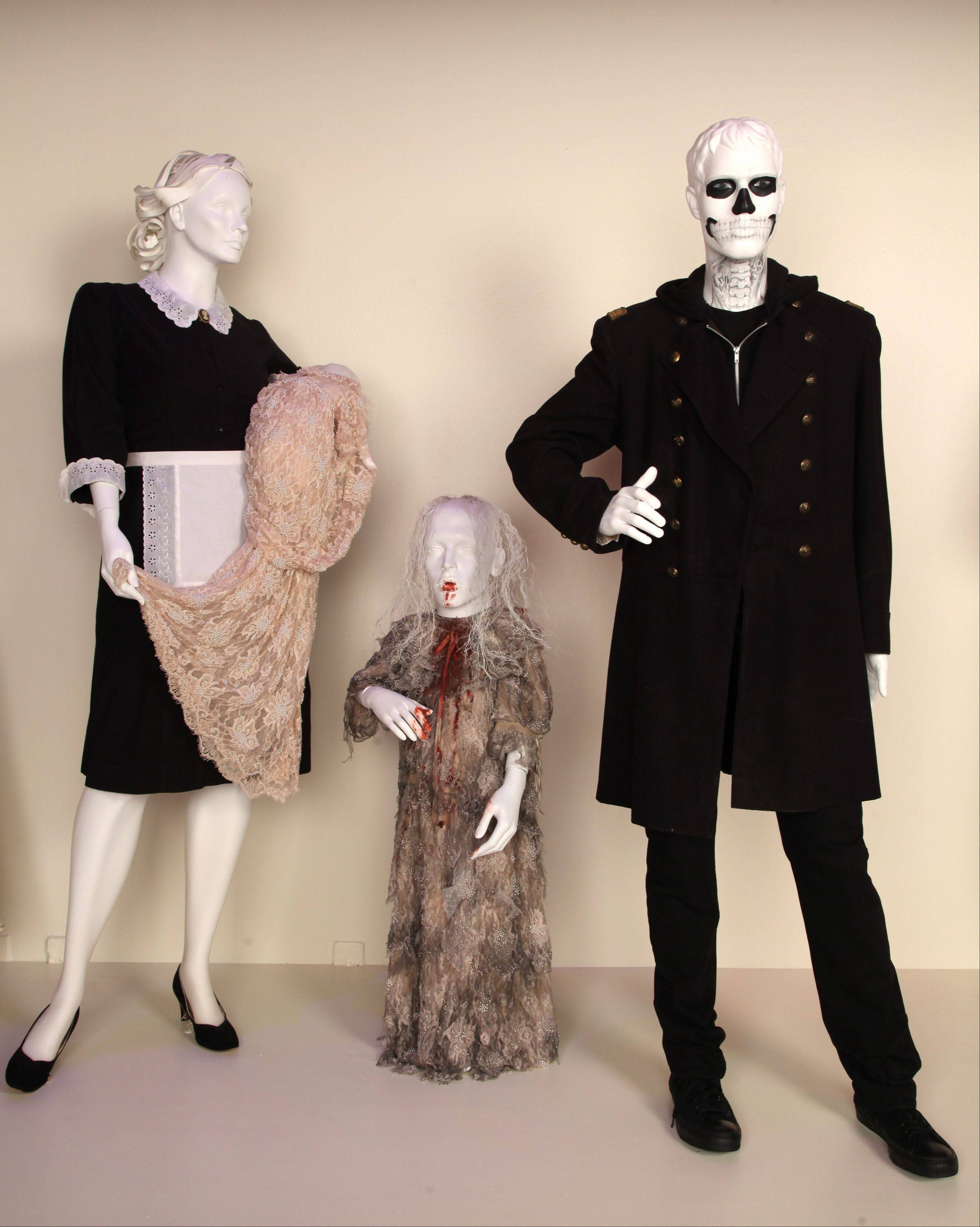 "Costumes from the TV show ""American Horror Story"" are shown in the exhibit ""The Outstanding Art of Television Costume Design"" at FIDM in Los Angeles. ""American Horror Story"" is nominated for 2012 Emmy for Outstanding Costume Design."