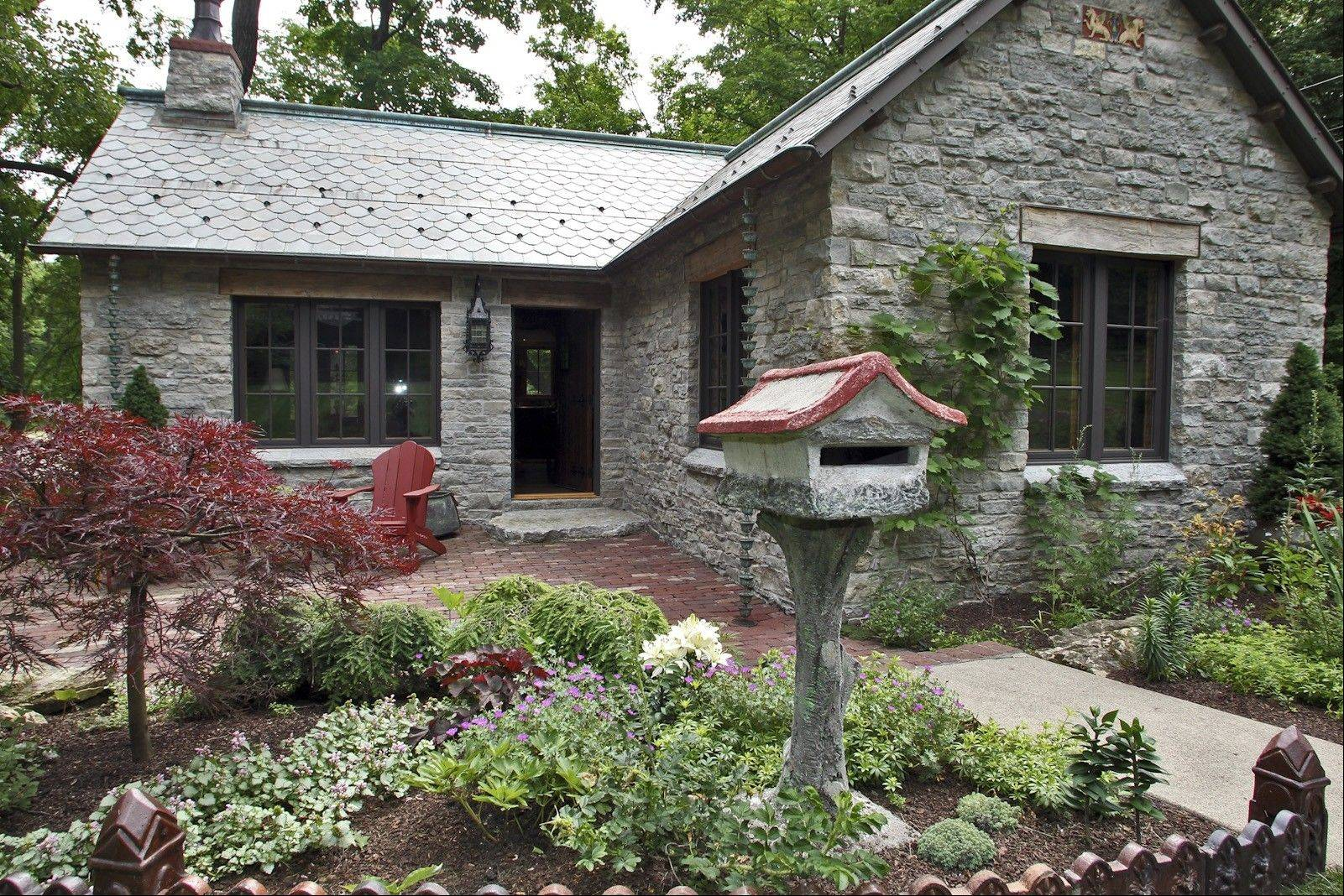 Both the slate roof and Platteville limestone used for exterior walls of the newly renovated cottage were salvaged from other buildings.