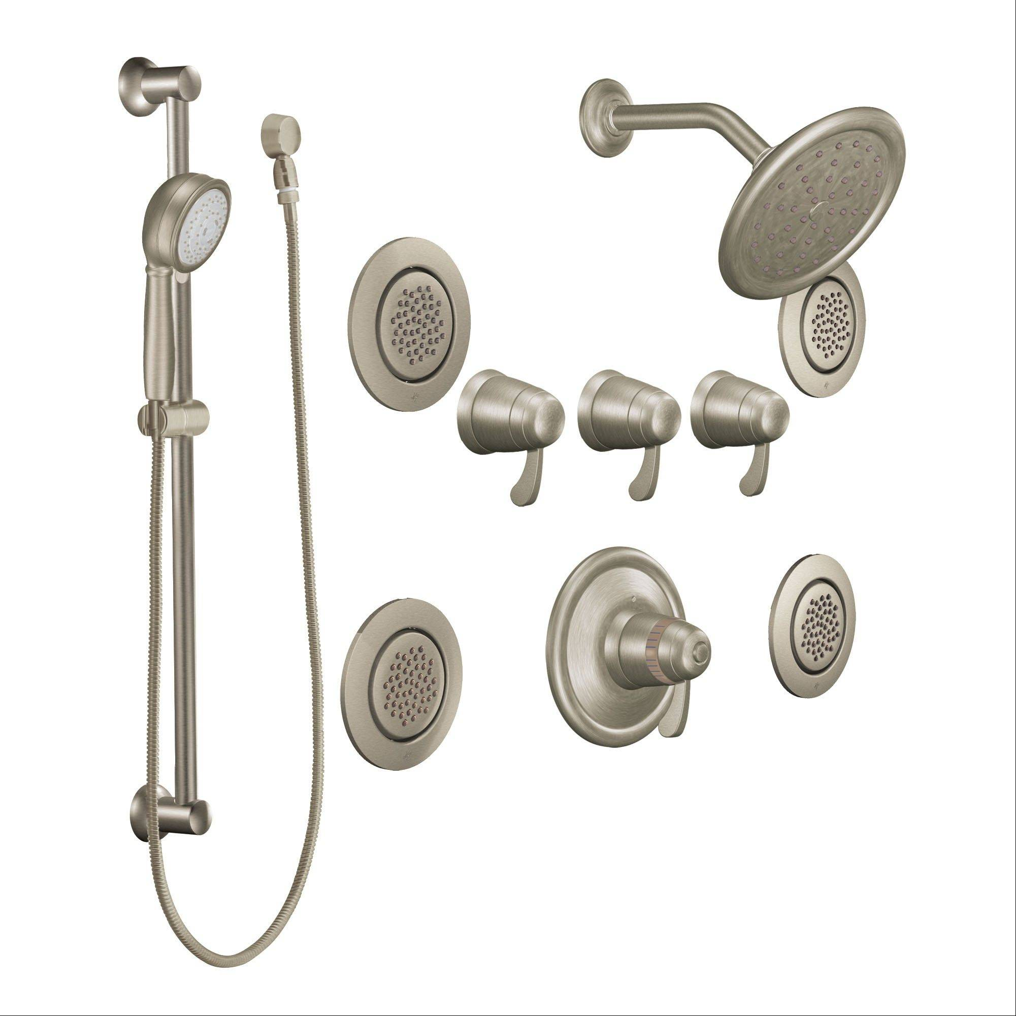 Gentle rain: Multi-spray shower sets add an element of luxury to the bathroom.