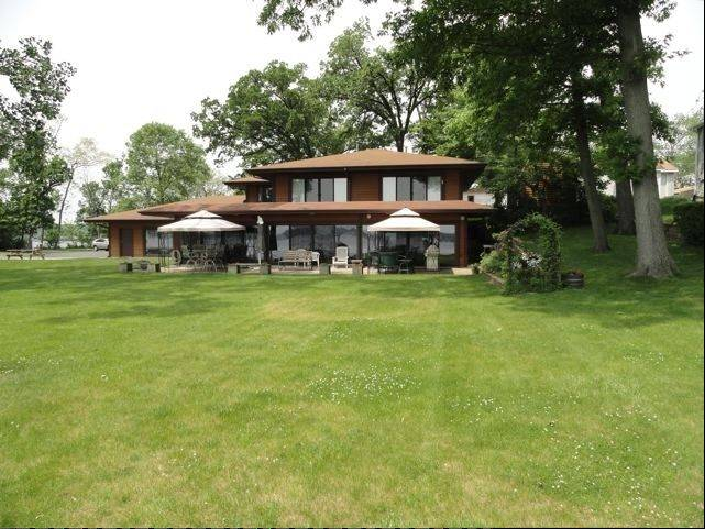 This recently remodeled cedar home is on Long Lake near Ingleside.