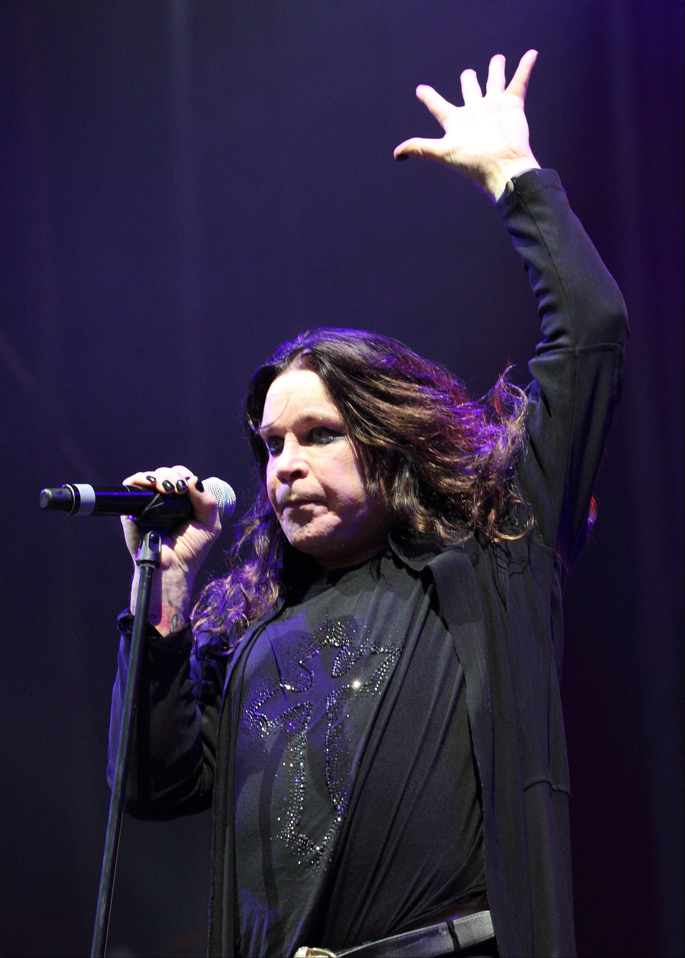 Ozzy Osborne of Black Sabbath performs at the Lollapalooza music festival on opening day in Chicago's Grant Park on Friday, Aug. 3, 2012.