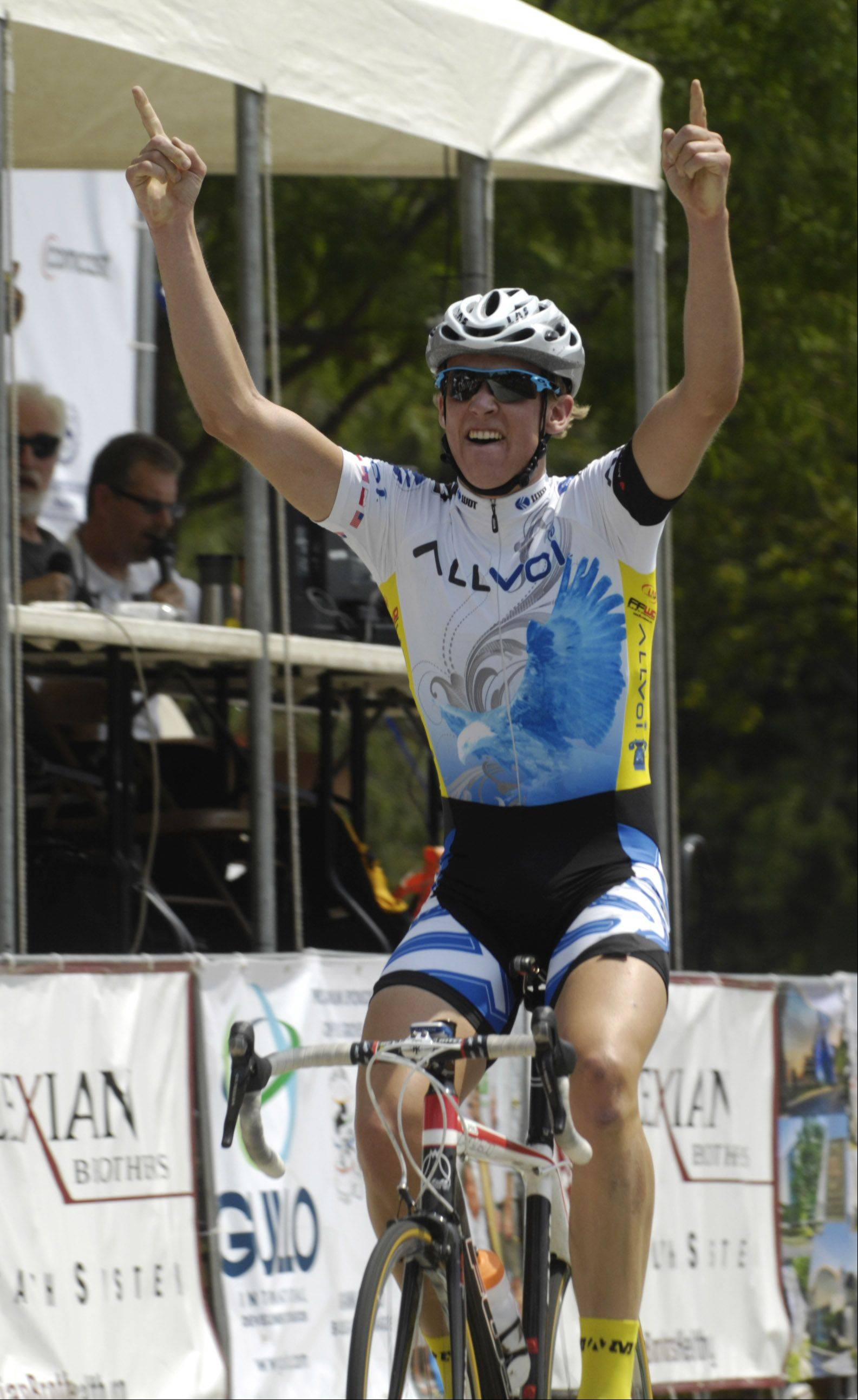 Sven Gartner wins the Rocco Vino's Category 3 during the Tour of Elk Grove Saturday.