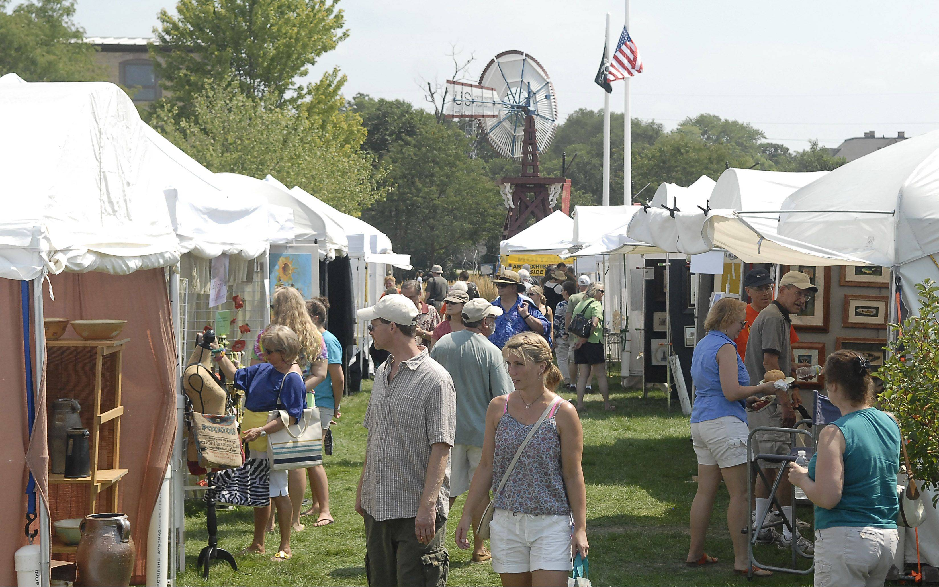 Batavia's Art in Your Eye festival along the Batavia Riverwalk Saturday.