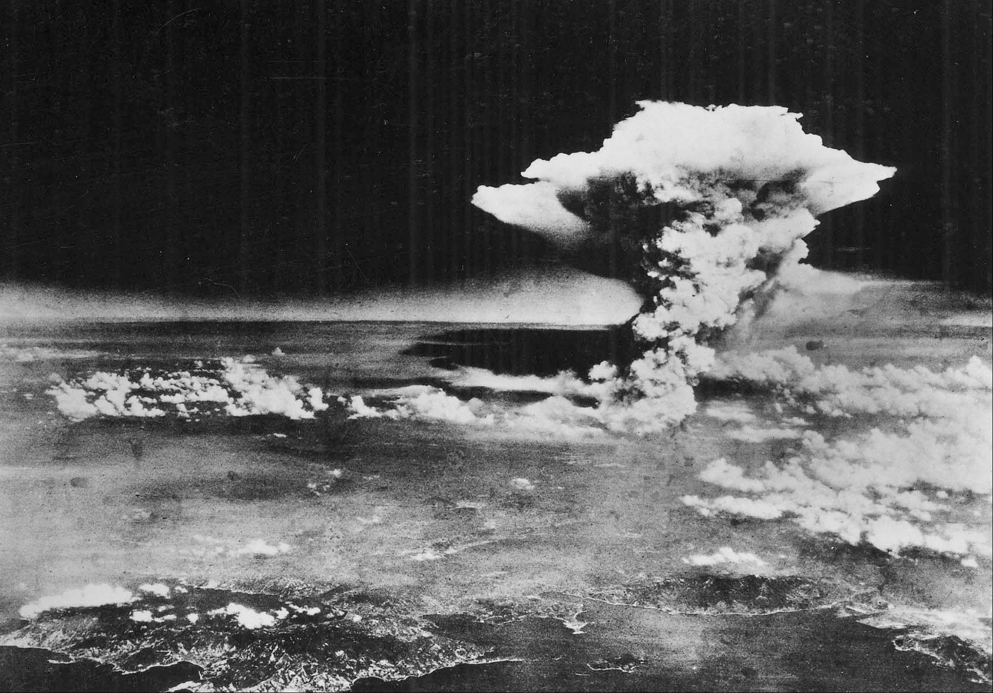 In this Aug. 6, 1945 file photo released by the U.S. Army, a mushroom cloud billows about one hour after an atomic bomb was detonated above Hiroshima, western Japan. Hiroshima will mark the 67th anniversary of the atomic bombing on Aug. 6, 2012. Clifton Truman Daniel, a grandson of former U.S. President Harry Truman, who ordered the atomic bombings of Japan during World War II, is in Hiroshima to attend a memorial service for the victims.
