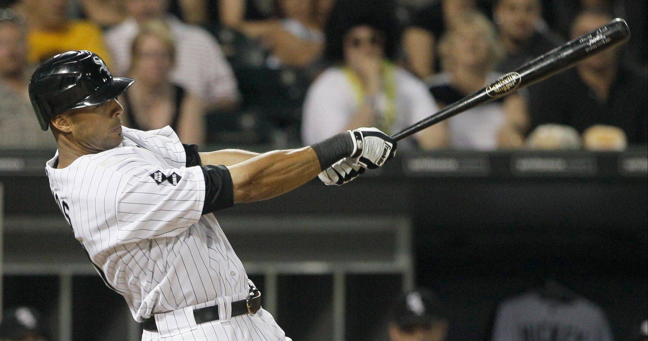 The swing of the White Sox' Alex Rios combines physics and geometry to create an elegant sight, according to Matt Spiegel.