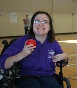 NWSRA participant Jade Cali at the Paralympic Metro Chicago Boccia Cup hosted by World Sport Chicago in June 2012.