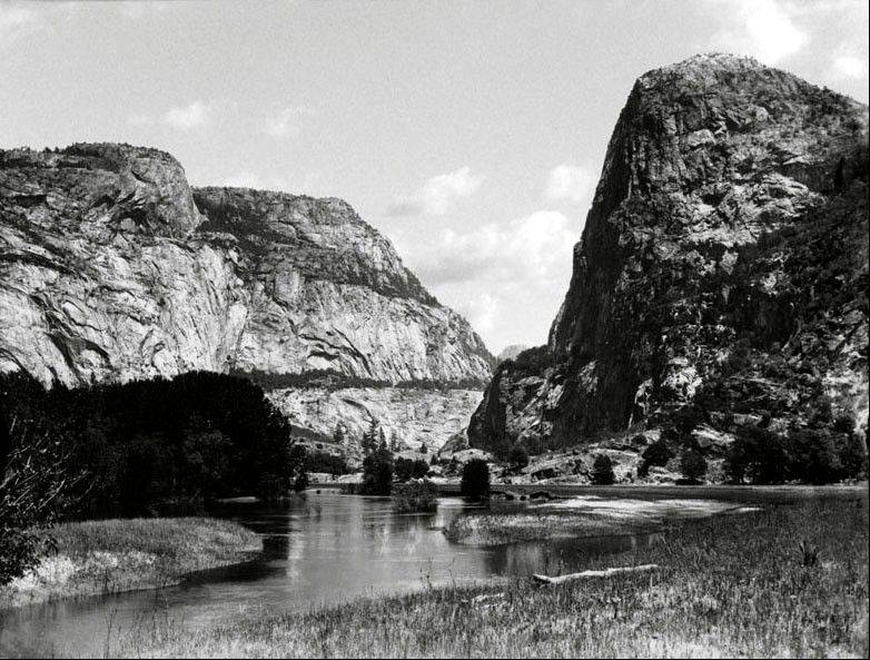 This pre-1913 file photo shows the Hetch Hetchy Valley in Yosemite National Park, Calif. This fall San Franciscans will vote on a local measure with national implications: It could return to the American people a flooded gorge described as the twin of breathtaking Yosemite Valley. Voters will decide whether to drain a 117-billion-gallon Hetch Hetchy reservoir in Yosemite National Park, exposing for the first time in 80 years a glacially carved, granite-ringed valley of towering waterfalls 17 miles north of its more famous sibling.