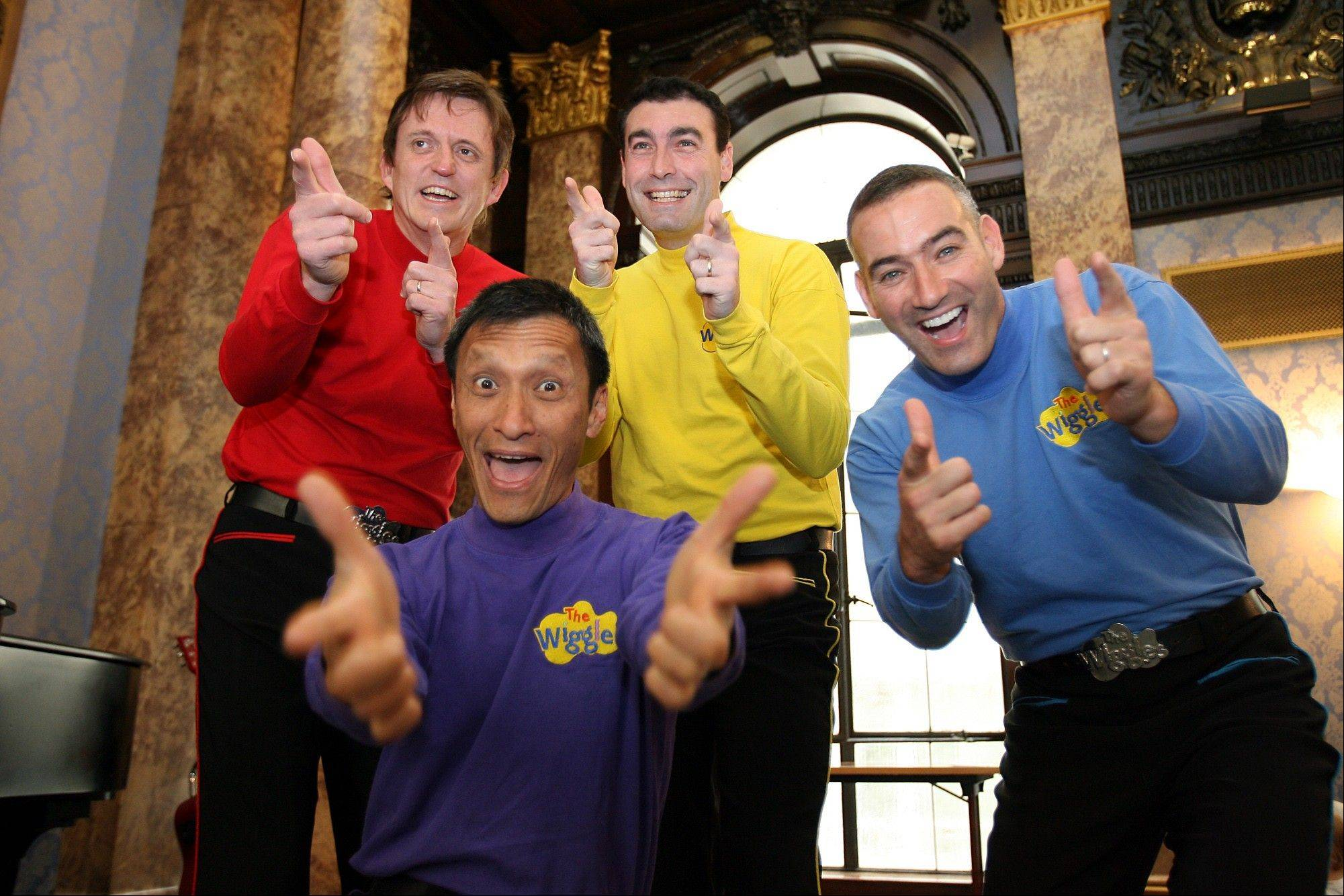 Australian children's entertainers The Wiggles bid adieu to three retiring original members -- Murray Cook (Red Wiggle), Greg Page (Yellow Wiggle) and Jeff Fatt (Purple Wiggle) -- on a special worldwide tour that stops at the Akoo in Rosemont. Anthony Field (Blue Wiggle) will continue on with the group.