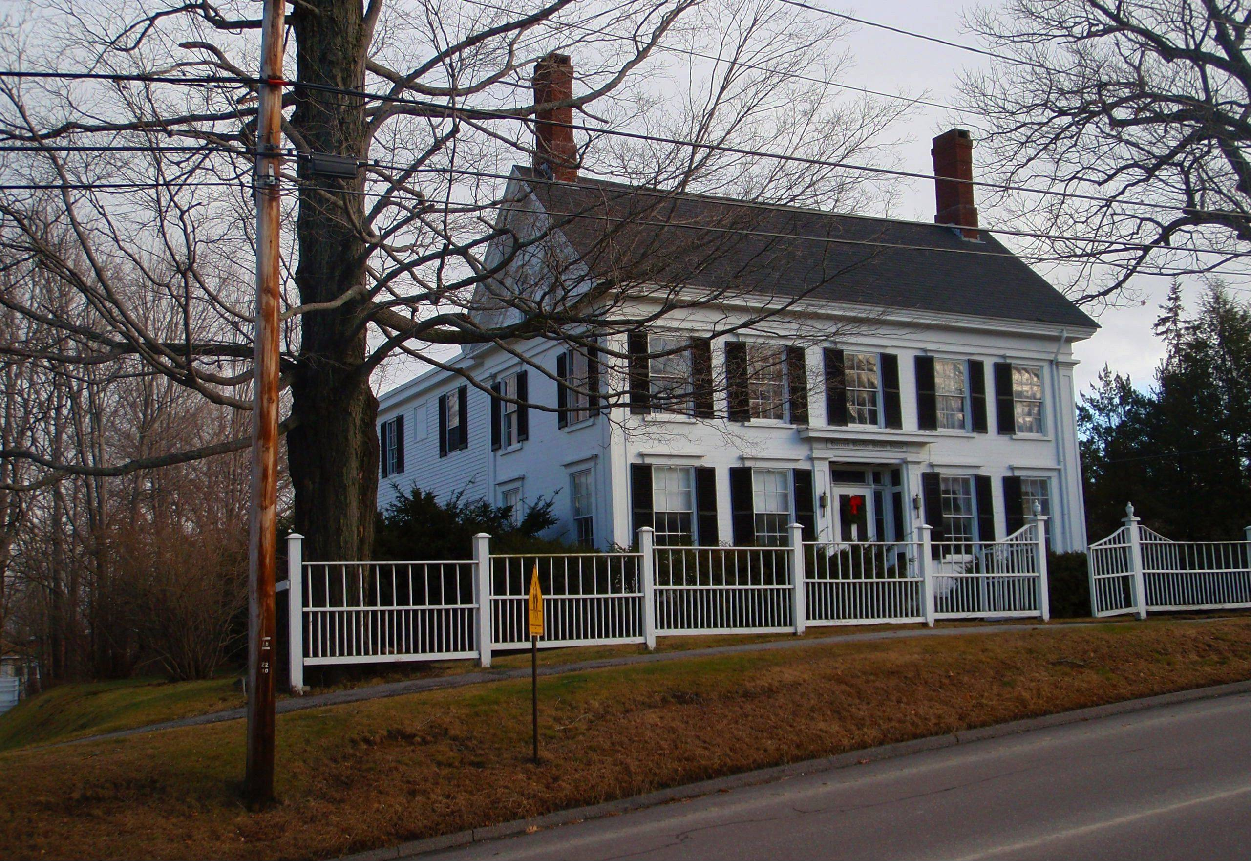 The house where Harriet Beecher Stowe lived in Brunswick, Maine, is a National Historic Landmark and one of many historic sites in Brunswick.