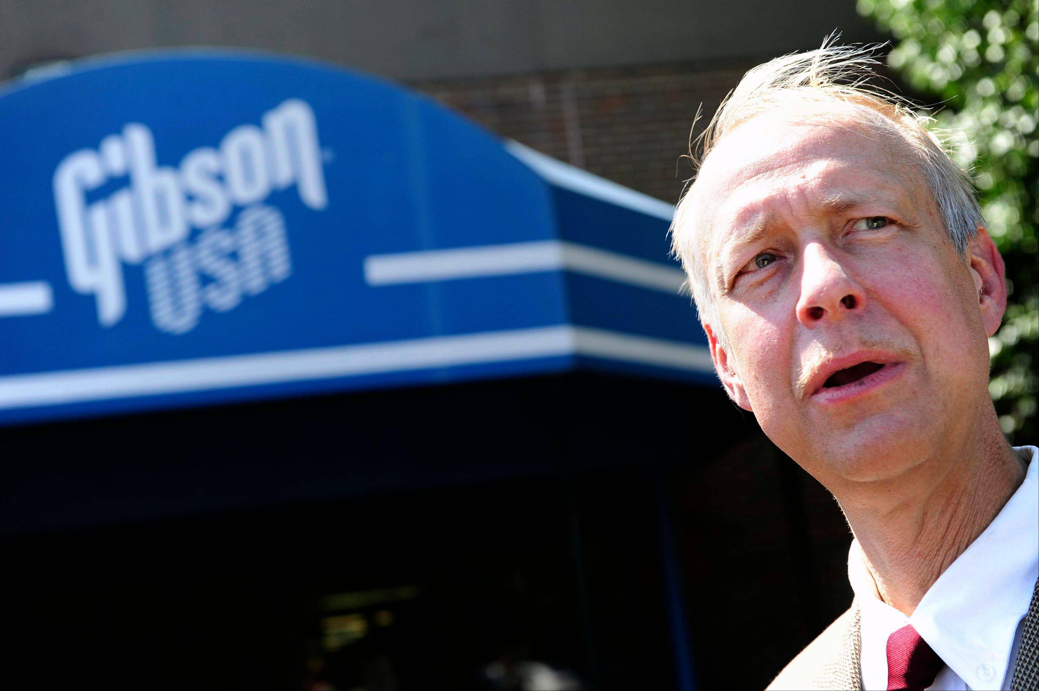 Federal prosecutors say a deal has been reached to drop the criminal case against Gibson Guitar Corp. after the instrument maker acknowledged its exotic wood imports violated environmental laws. Above is Gibson Guitar CEO Henry Juszkiewicz.