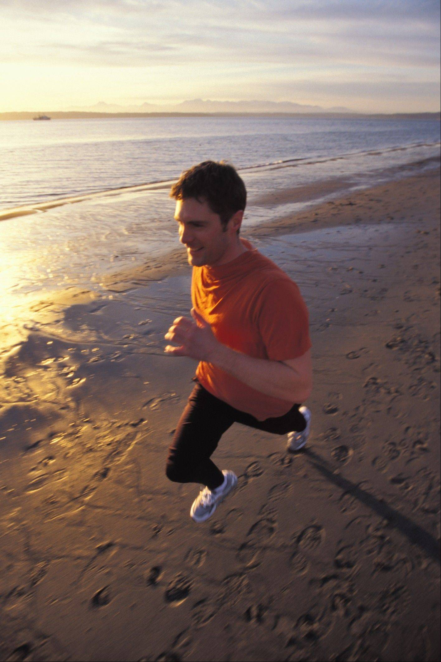 Some experts say running on the sand will burn up to 50 percent more calories than running on pavement.
