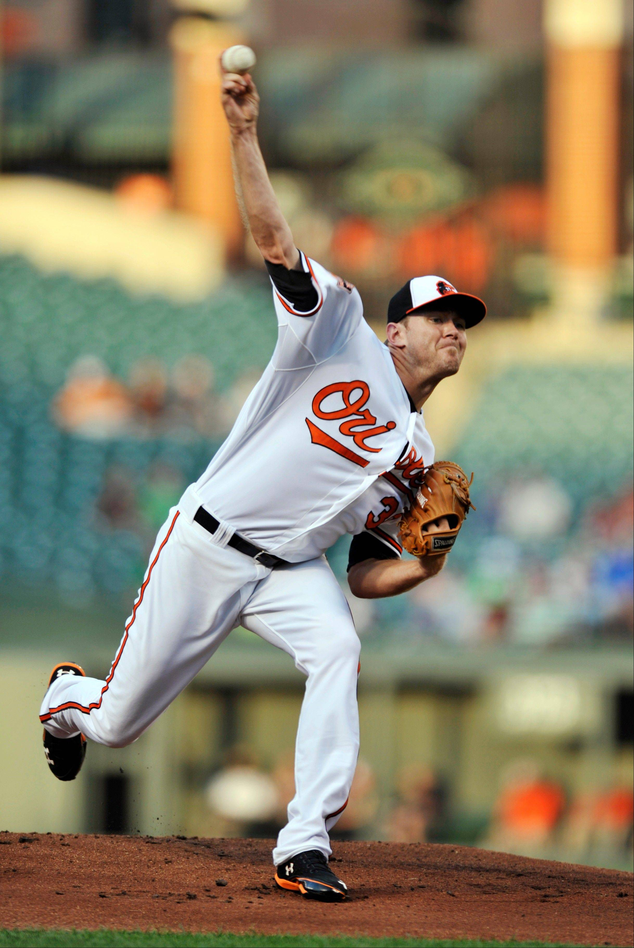 Baltimore pitcher Chris Tillman gave up one run, five hits and a walk in 7 1-3 innings Monday at home against Seattle to win his fourth straight start.