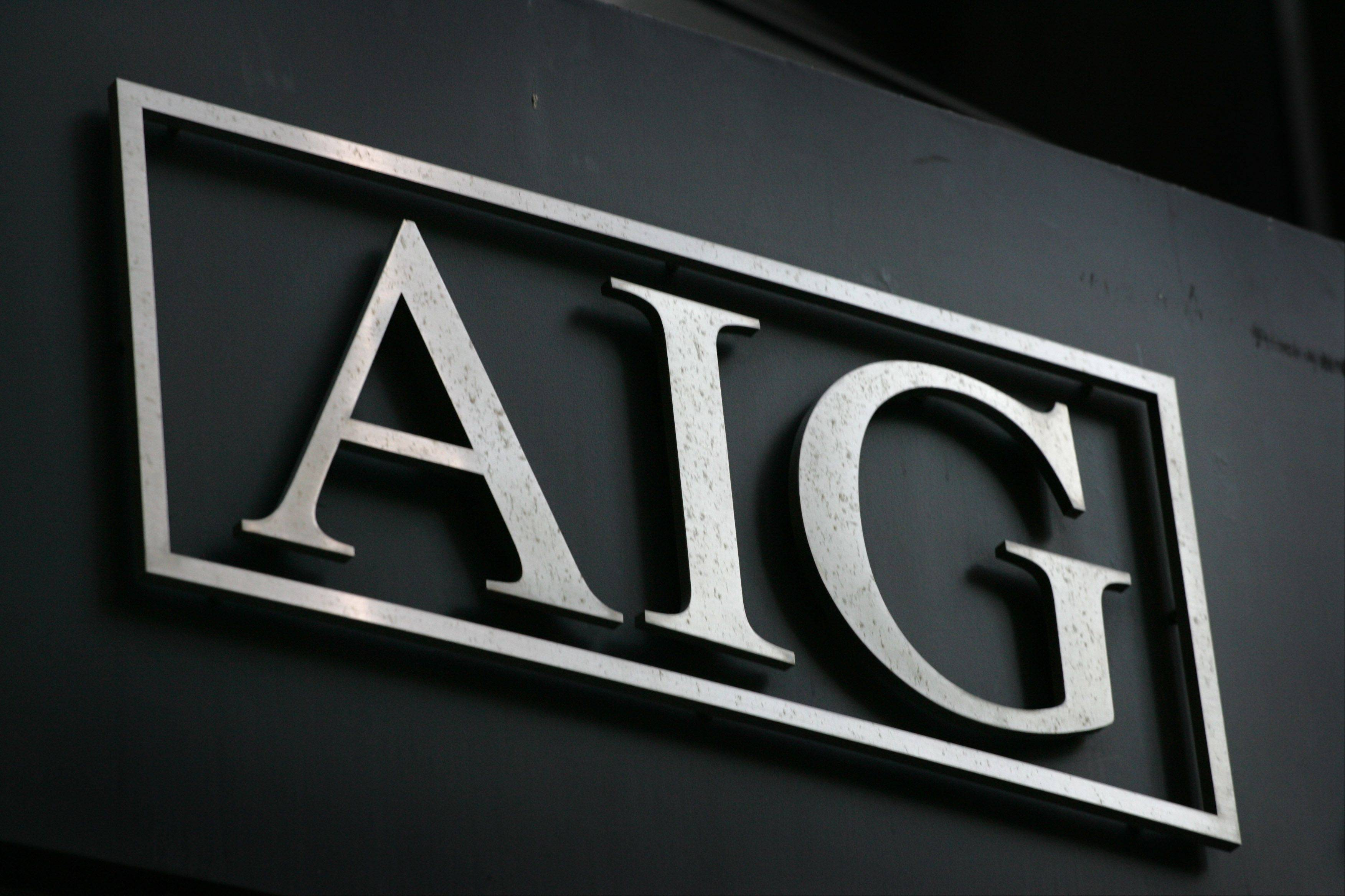 FILE - In this Sept. 17, 2008 file photo, the AIG logo is shown in New York. Bailed-out insurance conglomerate American International Group Inc. is taking a key step toward paying off a bailout that was at one point worth $182 billion _ the largest of the financial crisis. The company says in a public filing Wednesday, Dec. 8, 2010, that it will repay a loan from the Federal Reserve Bank of New York.