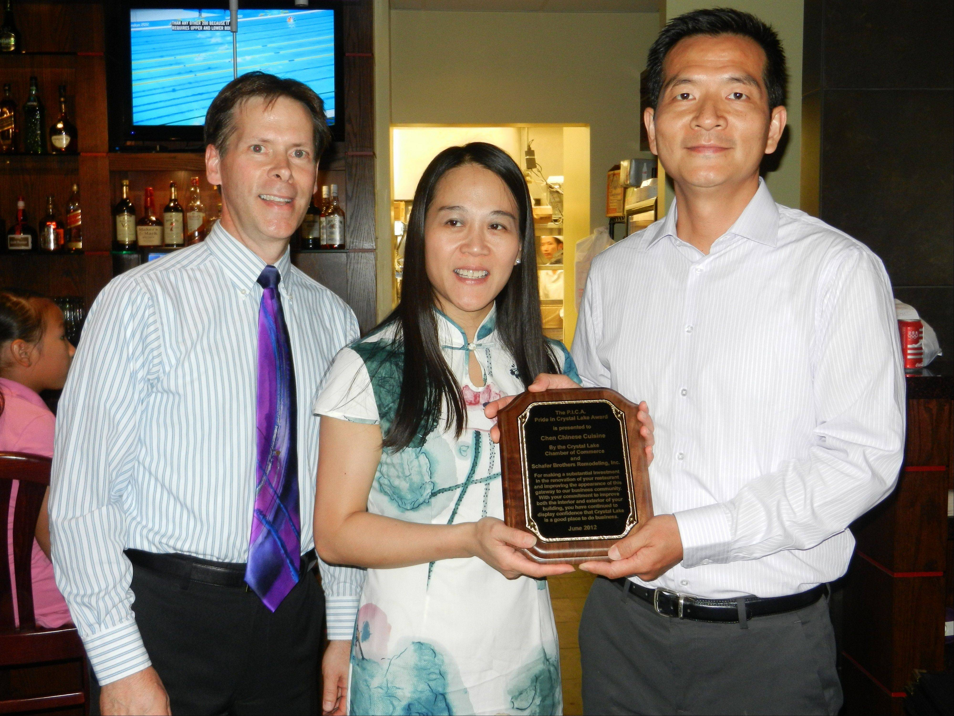 Gary Reece, from left, Suya Chen and Ming Chen.