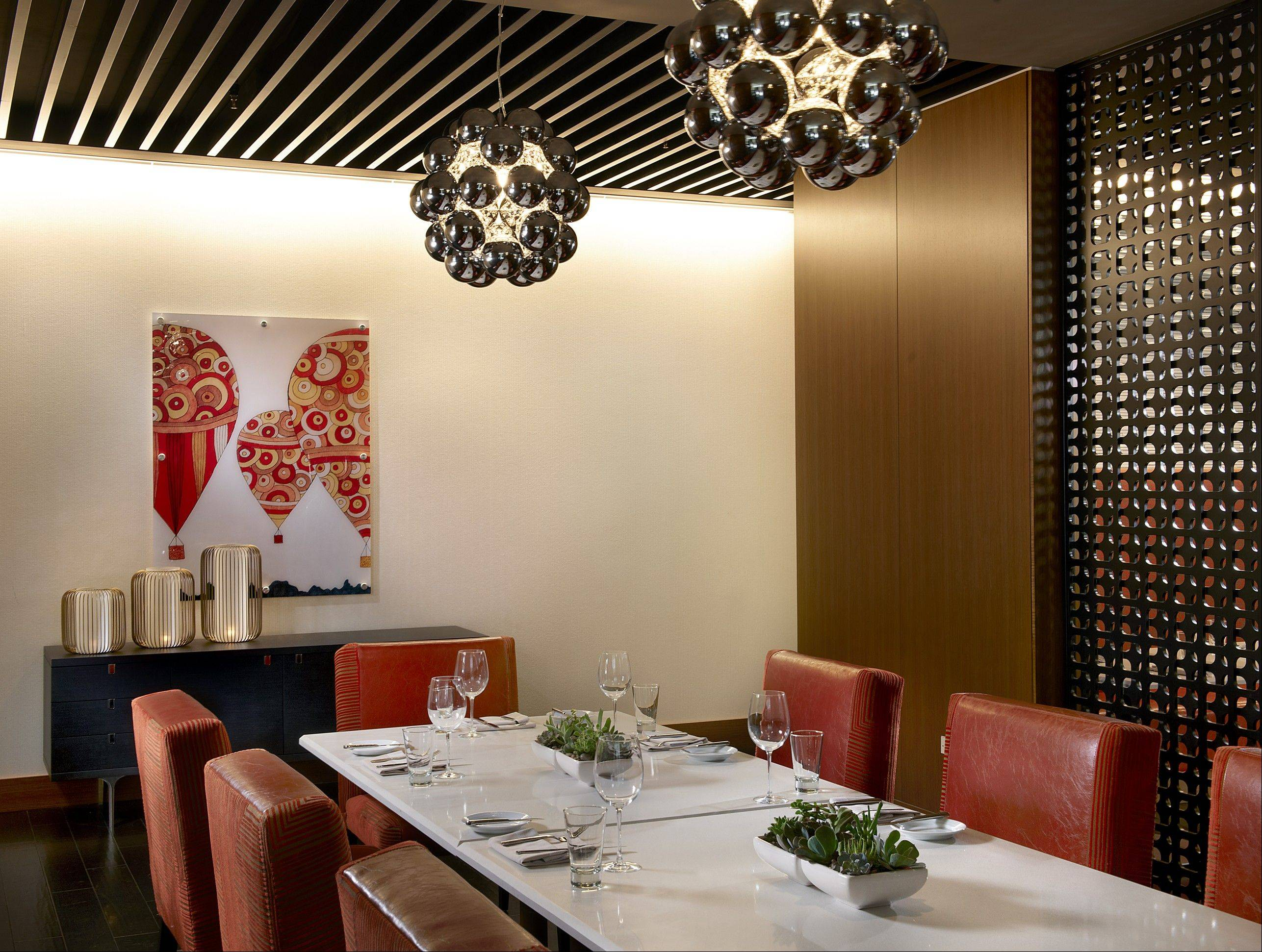 The private dining room awaits guests at the newly opened Artisan Table Restaurant in the Chicago Marriott Naperville.