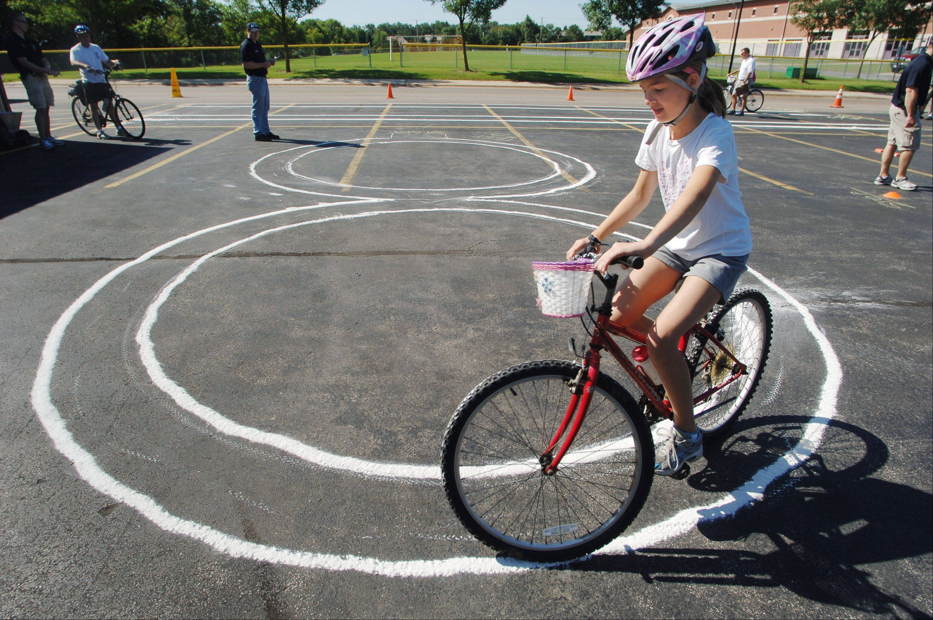 Gurnee Days Bike Rodeo last year at Woodland Middle School.