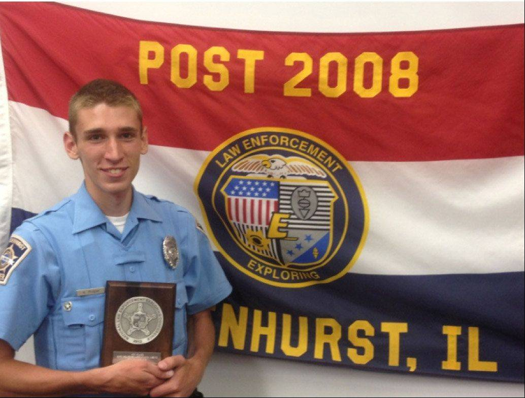 Kyle Proper of Lake Villa won a national award for Lindenhurst Police Explorer Post #2008.