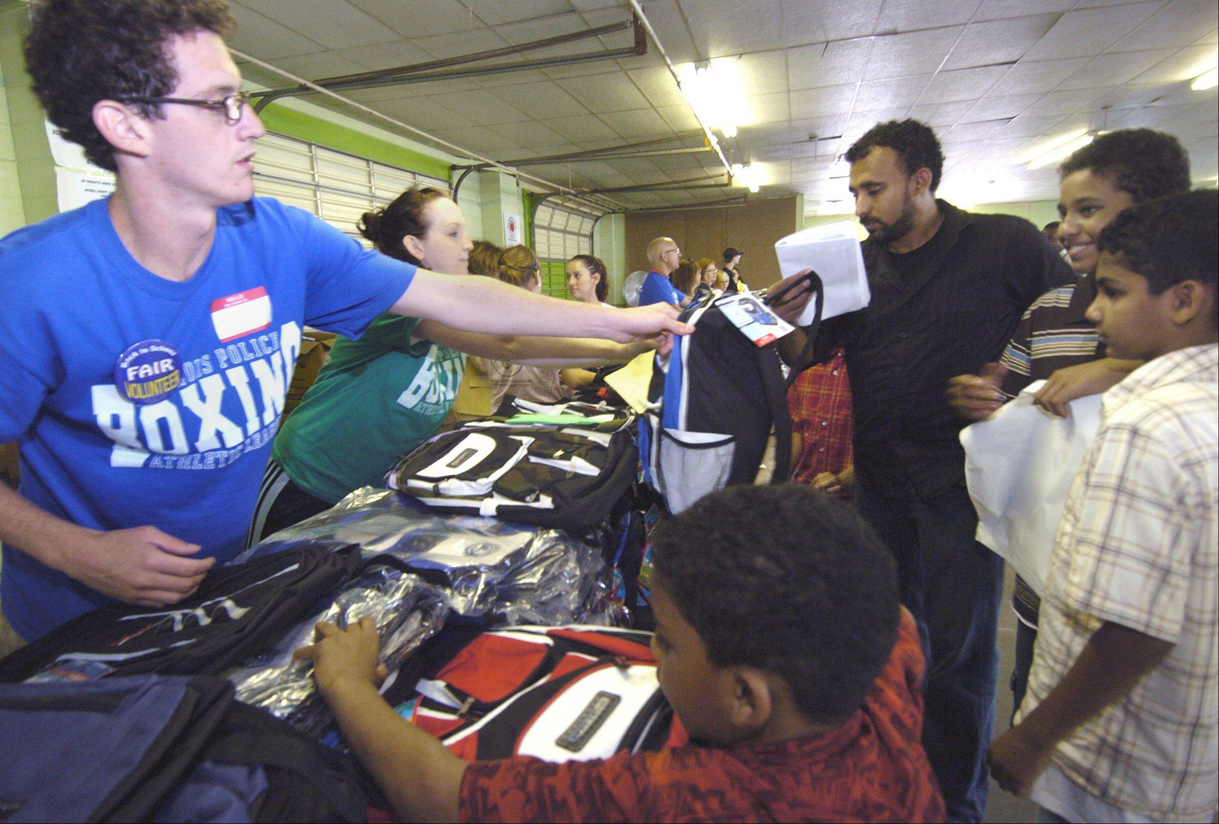 The annual Catholic Charities Back to School Fair will provide school supplies and other services for low-income families from 11 a.m. to 6 p.m. Wednesday, Aug. 8, at the DuPage County Fairgrounds in Wheaton.