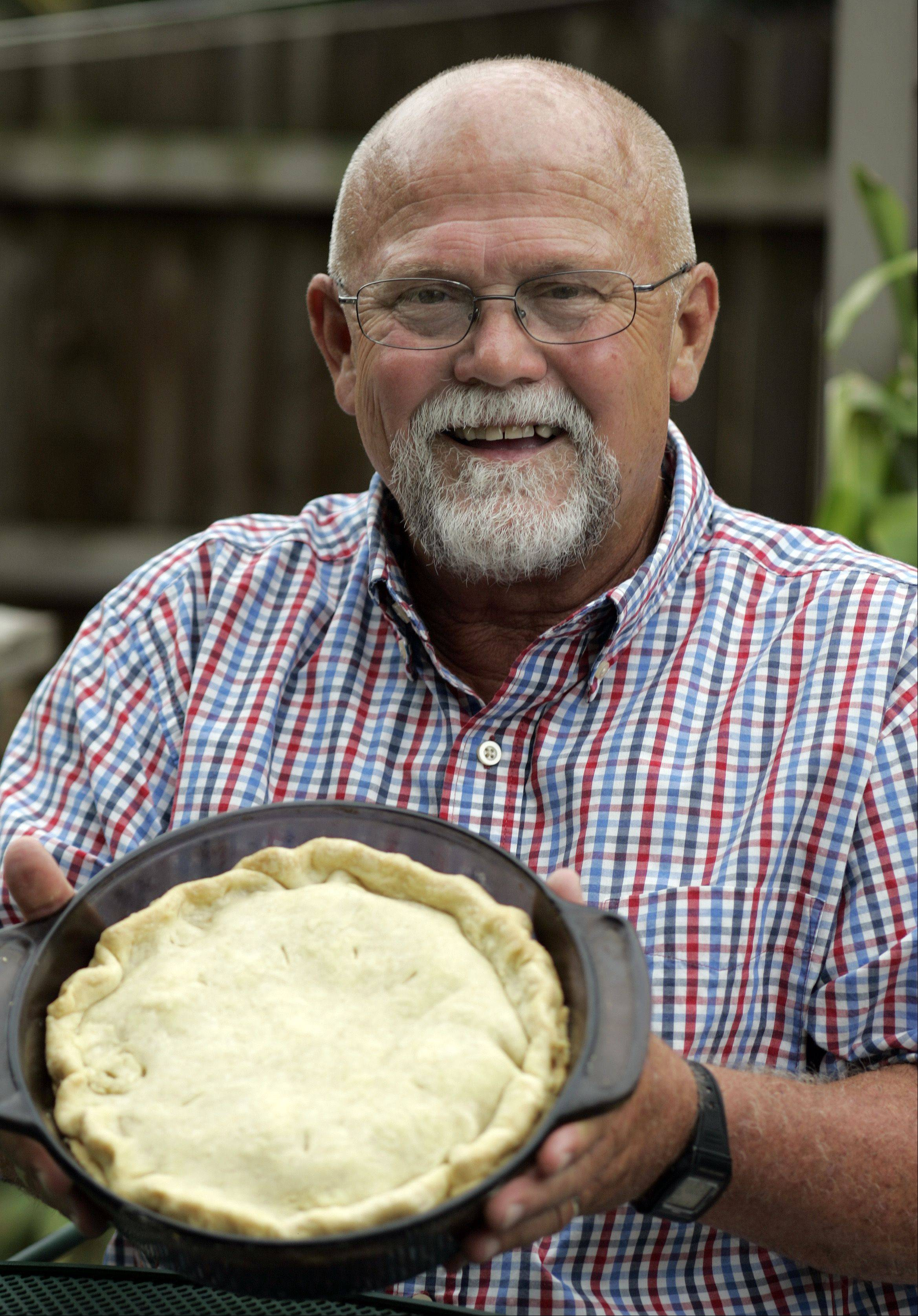Tony Hollister likes one-dish meals, like his hearty chicken potpie.