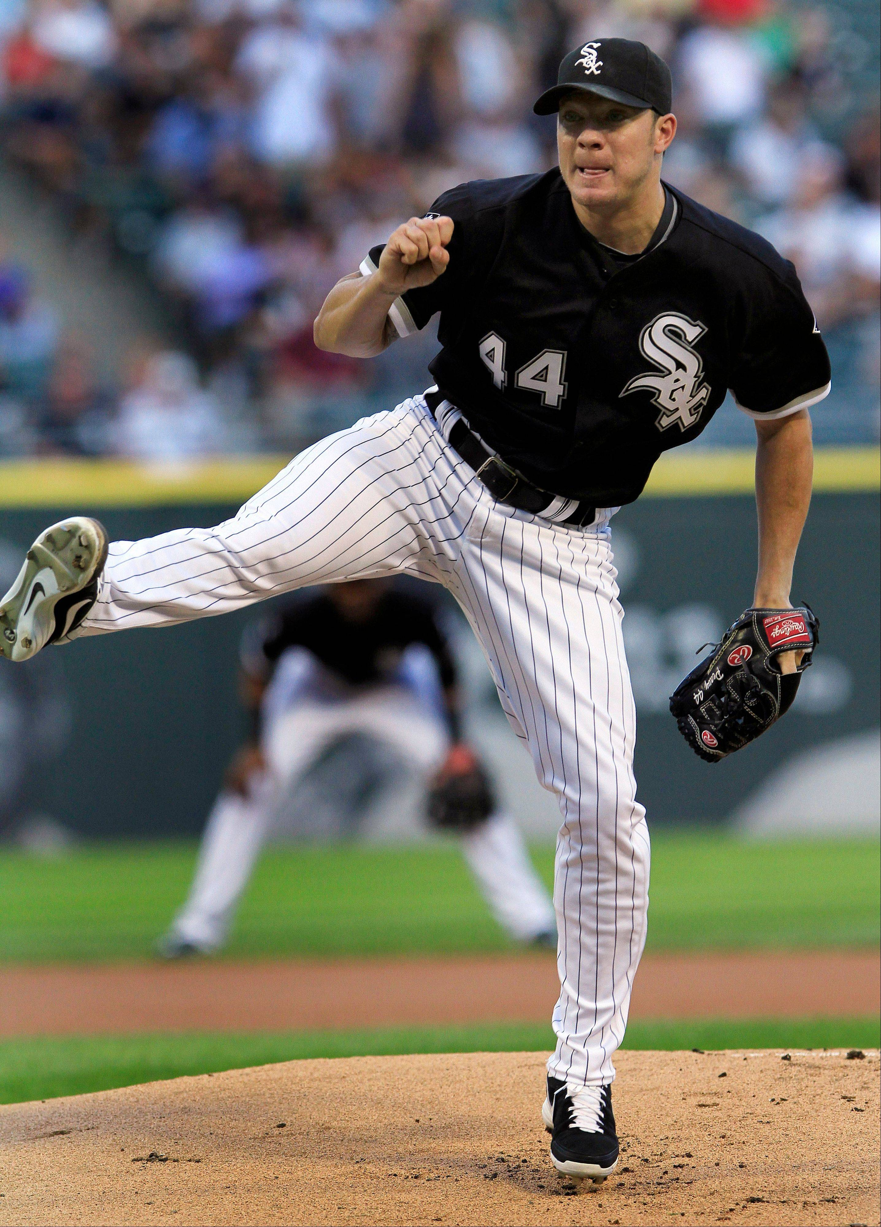 White Sox starting pitcher Jake Peavy allowed 3 runs on 7 hits in 6 innings Tuesday night and took the 5-2 loss against the Kansas City Royals.