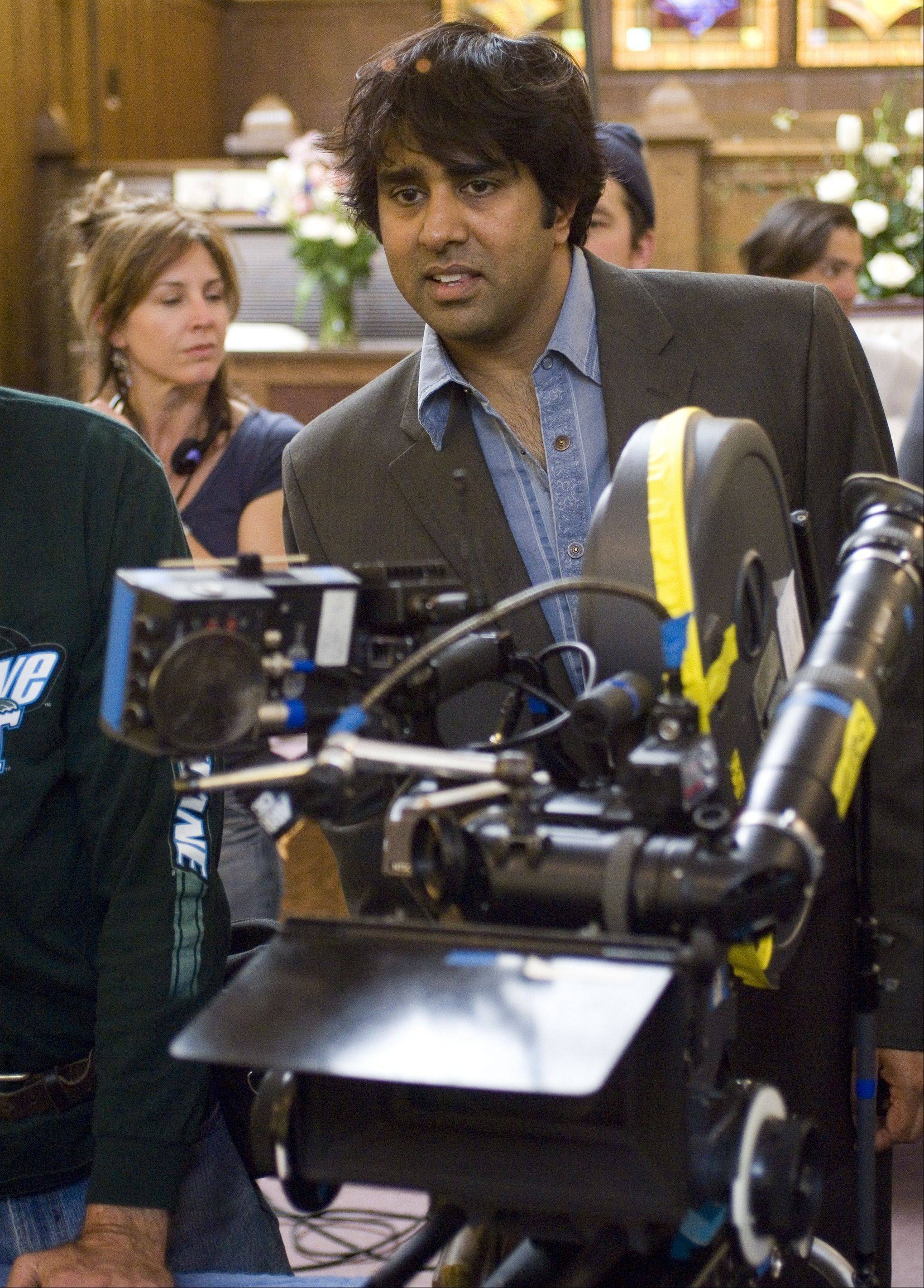 "Former Hinsdale resident Jay Chandrasekhar takes charge of a scene while directing the 2006 comedy movie ""Beerfest."""
