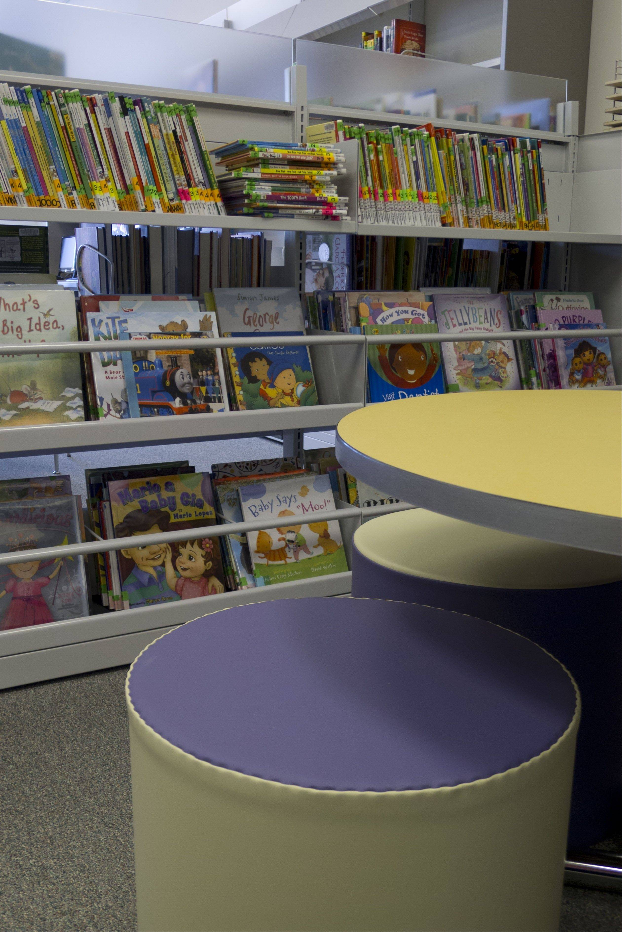 The new Indian Trails Library Prospect Heights branch features a separate area for youth with low seating, books and DVDs.