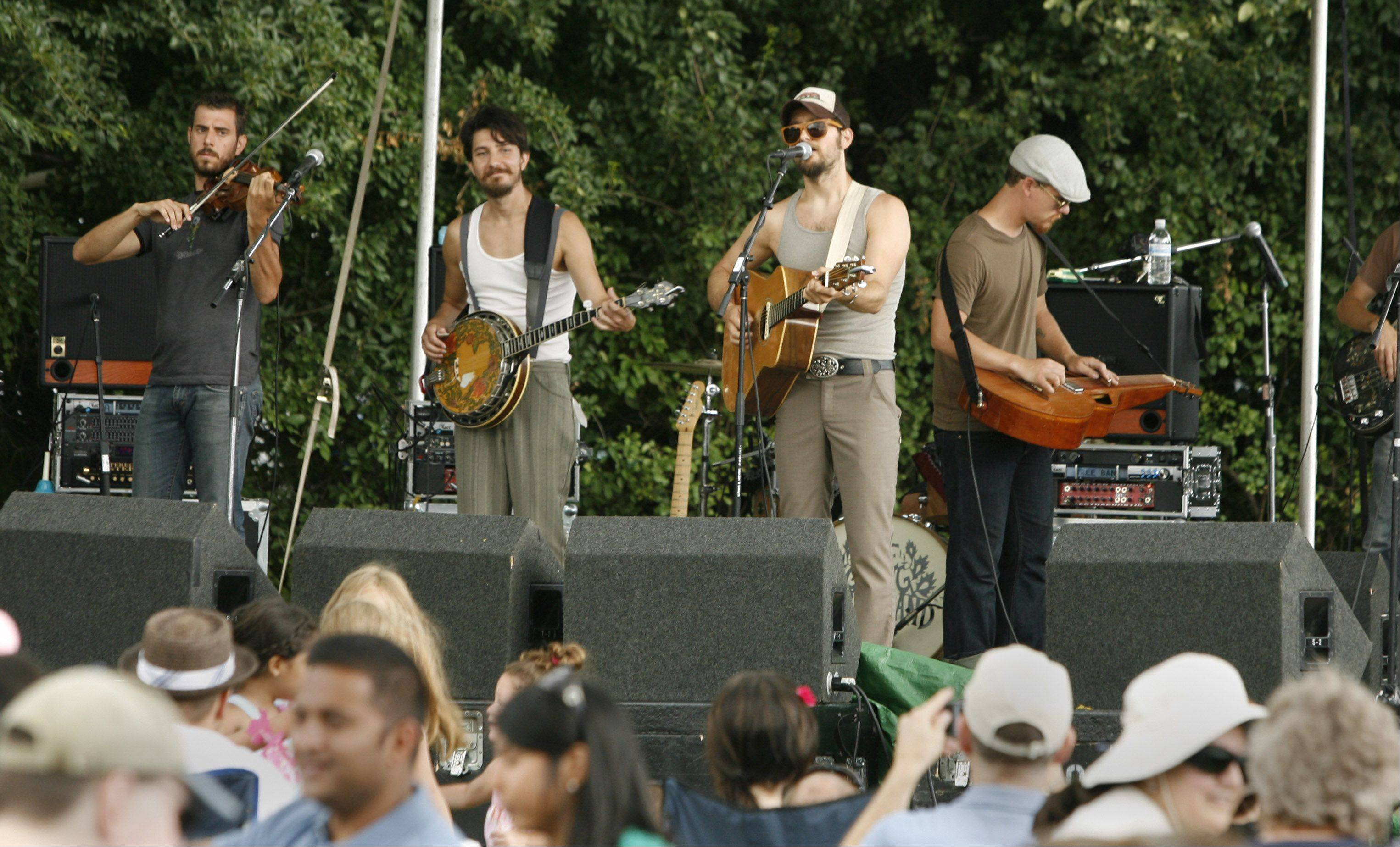 Four musical groups will play both days of Naperville's Veggie Fest, including The Giving Tree Band.