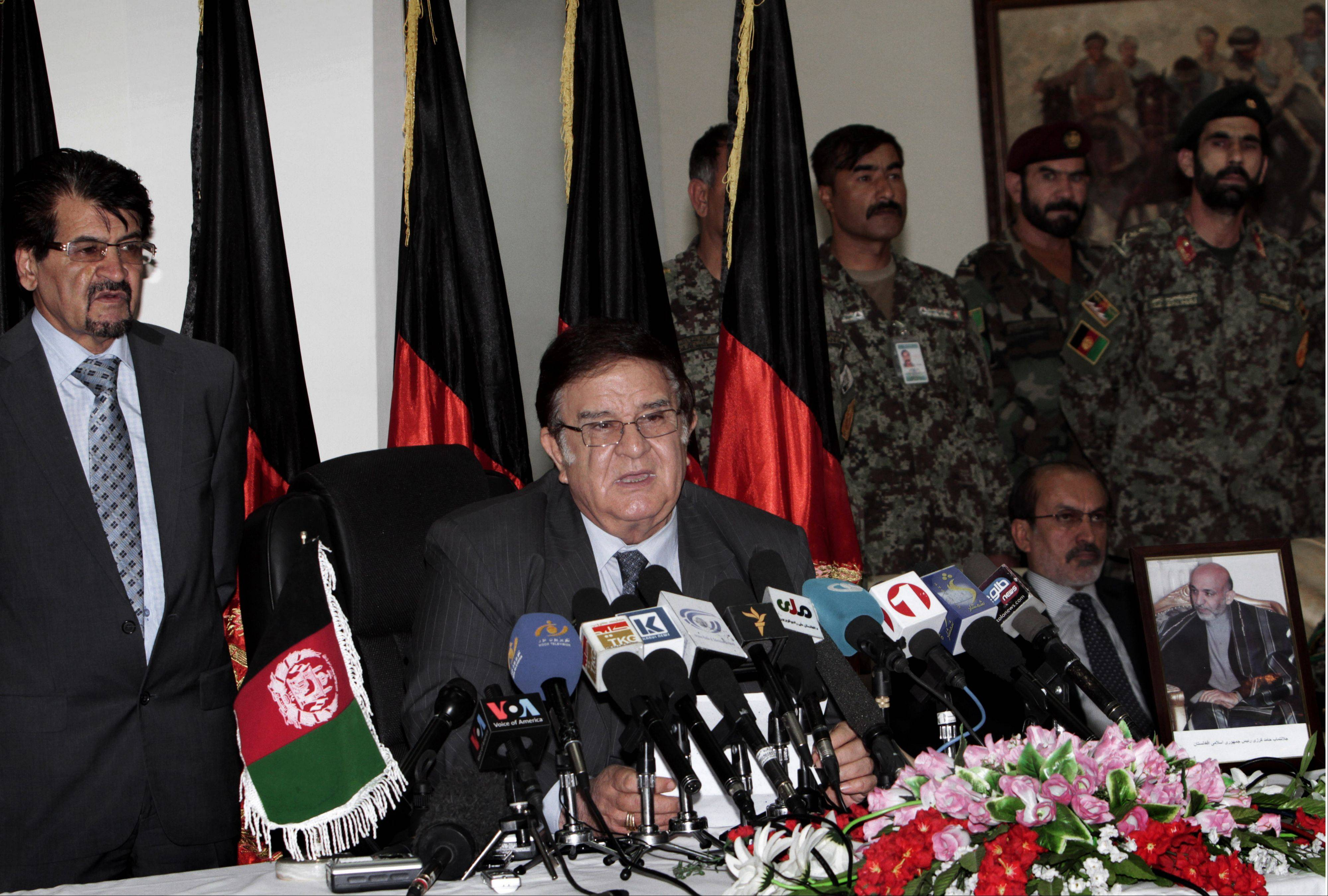 Afghan Defense Minister Abdul Rahim Wardak, says he is stepping down, just days after rec