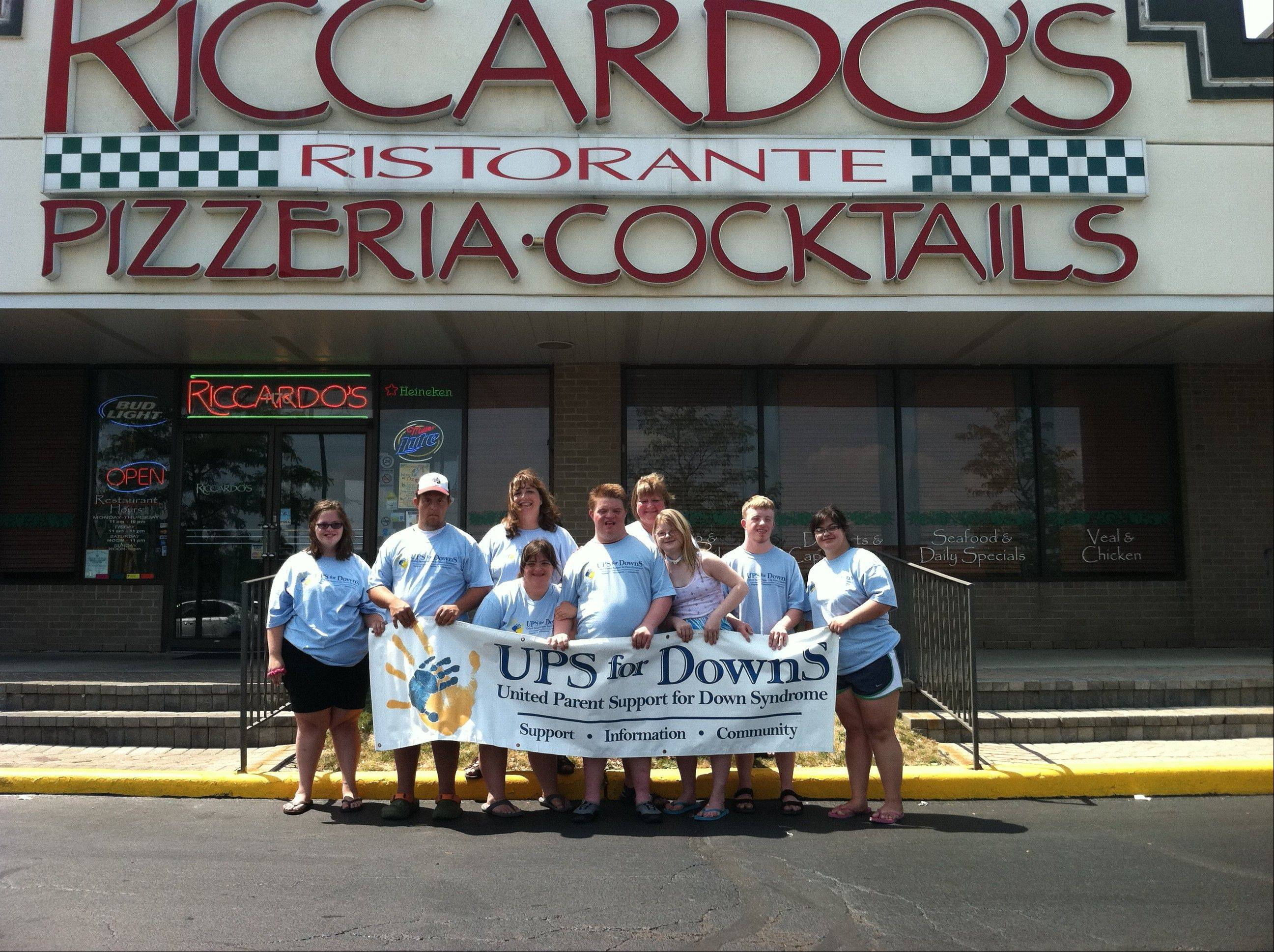 On Tuesday, UPS for DownS members worked as servers at a pasta fundraiser for the American Cancer Society at Riccardo's Ristorante in Schaumburg.