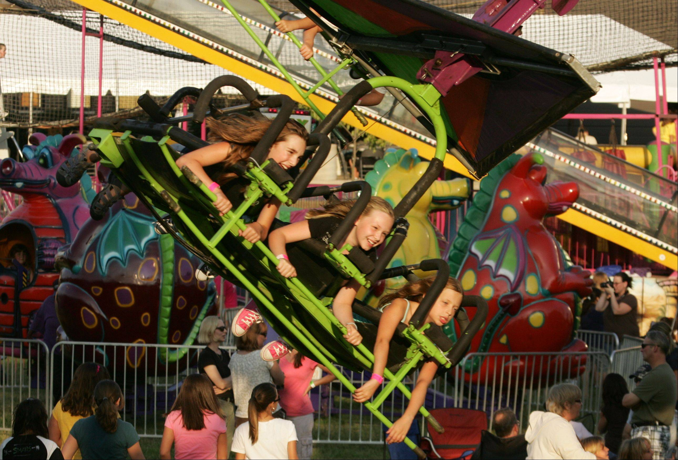 Families and residents enjoy food, entertainment, and rides last year at Lindenfest in Lindenhurst.
