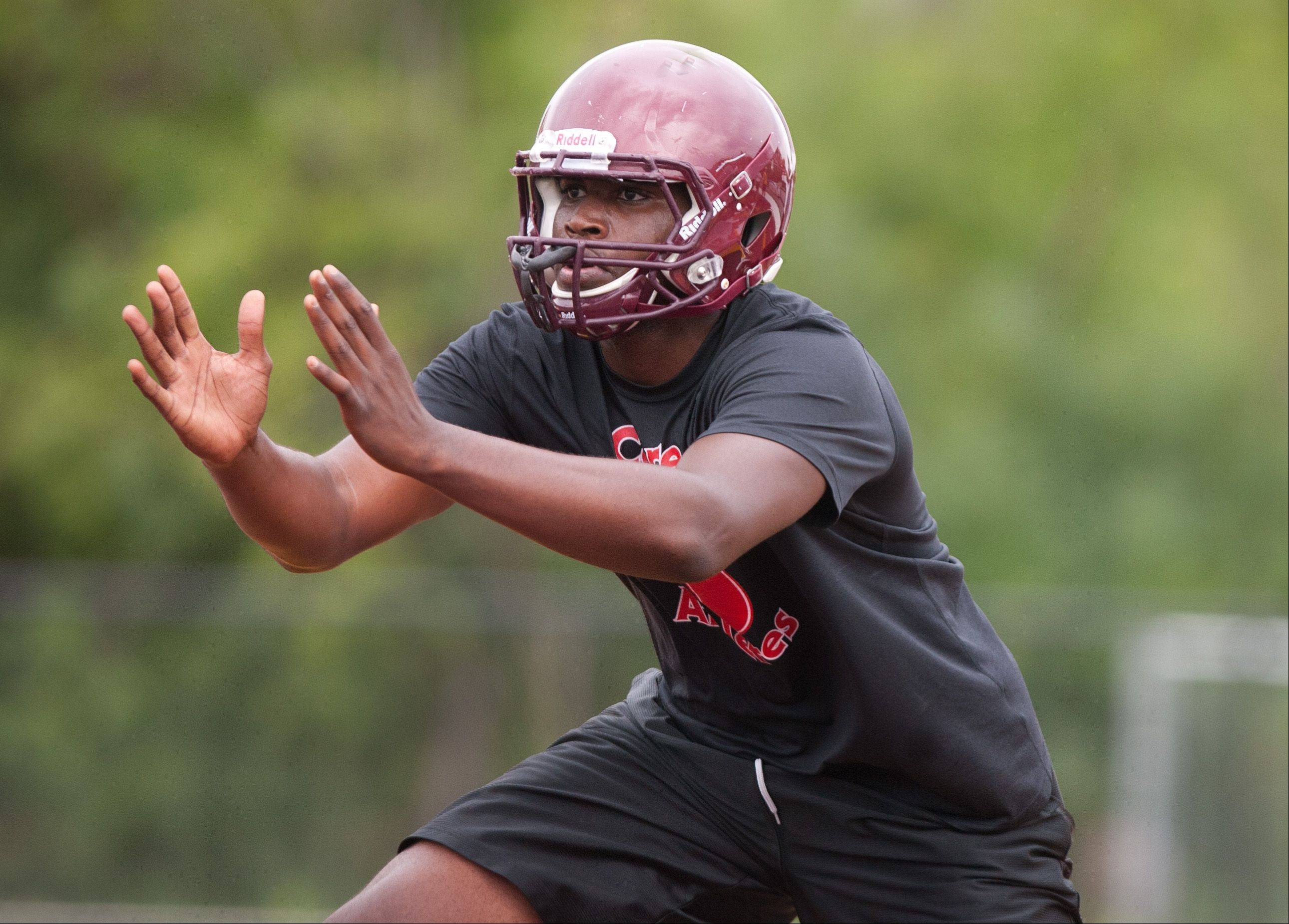 Montini Catholic's Fred Beaugard prepares for the upcoming season.