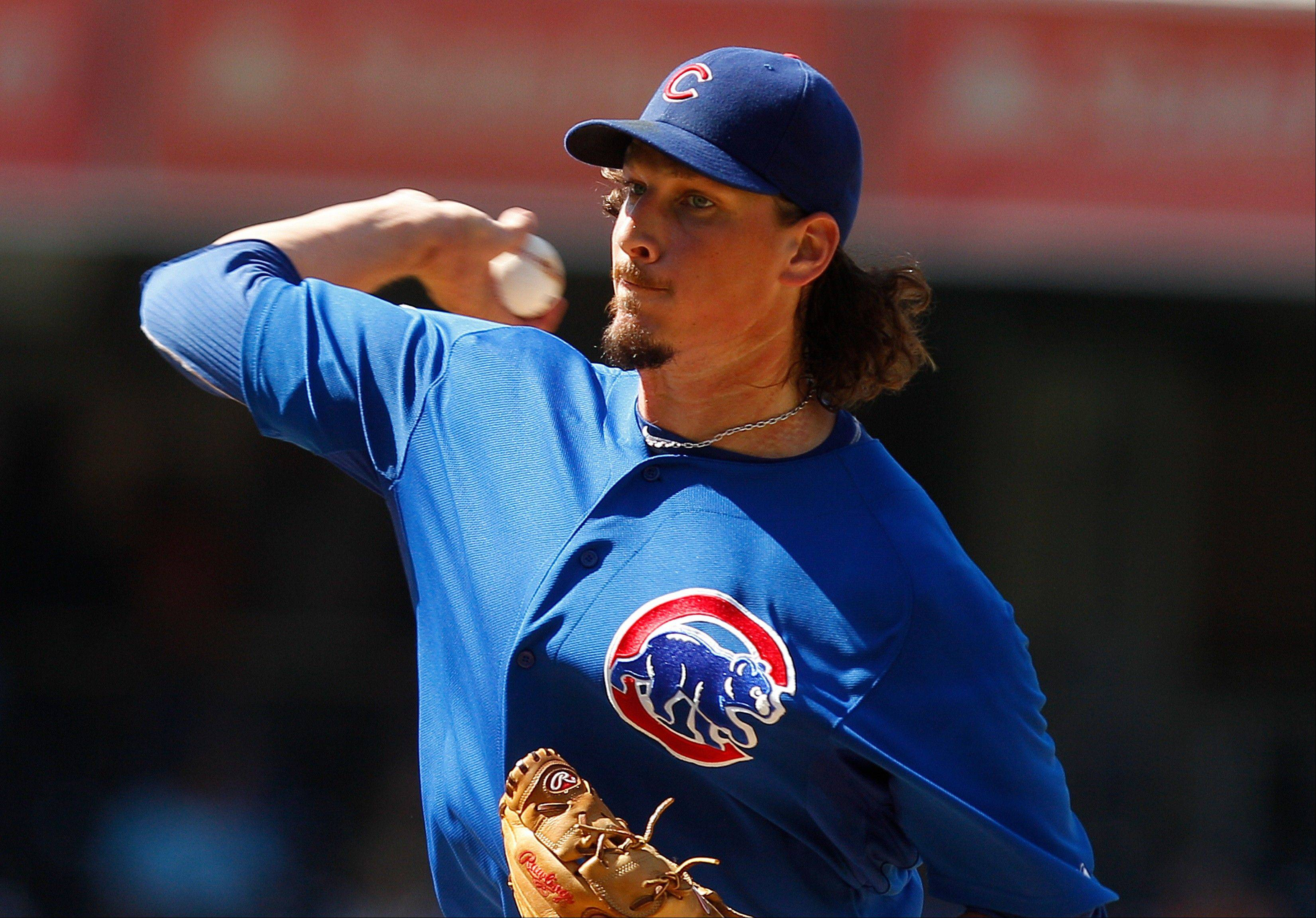 Cubs starting pitcher Jeff Samardzija throws against the San Diego Padres Wednesday during the first inning in San Diego.