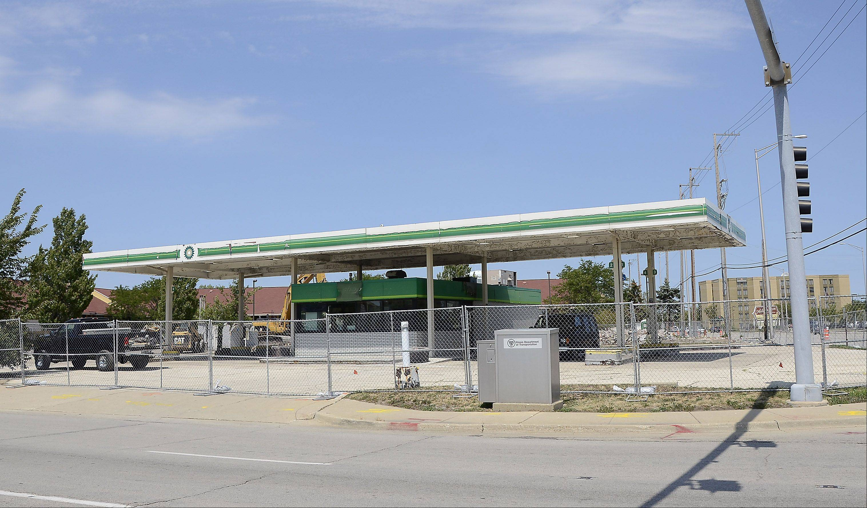 Construction has started on the former BP gas station and Higgley's Restaurant.