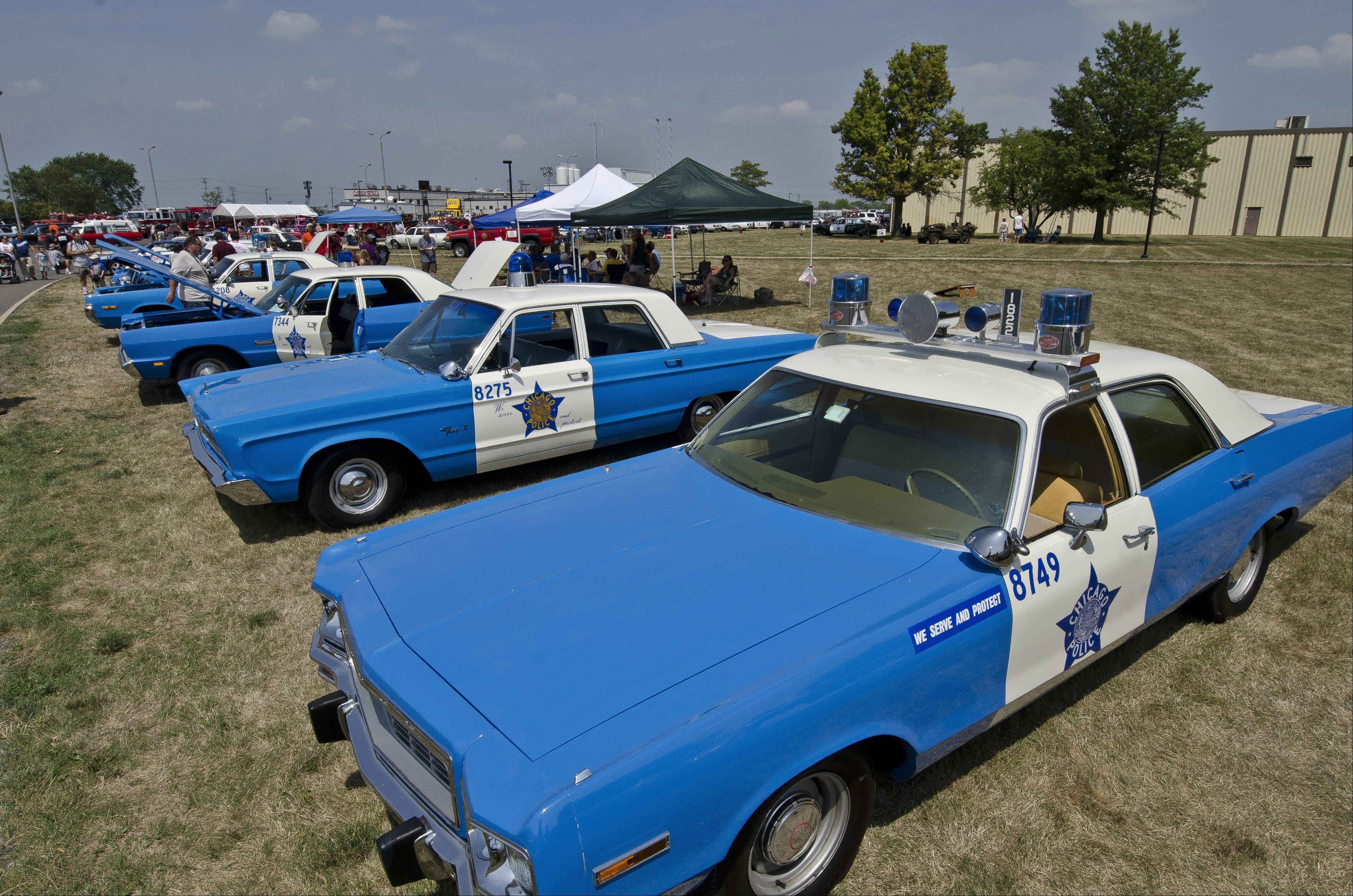 An entire fleet of classic Chicago police cars attend the annual Chicagoland Emergency Vehicle Show, which was held last weekend in North Aurora.
