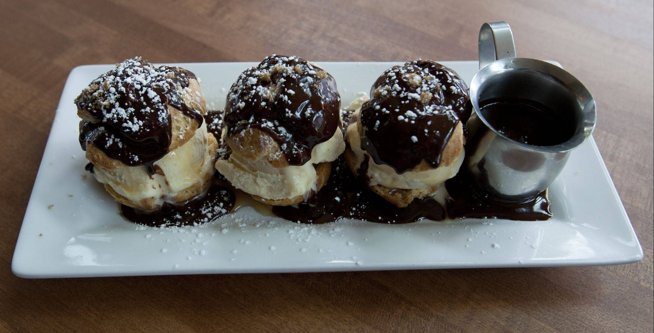 Bourbon Ice Cream Sliders are a decadent way to end a meal at Lincoln Whiskey Kitchen in Schaumburg.
