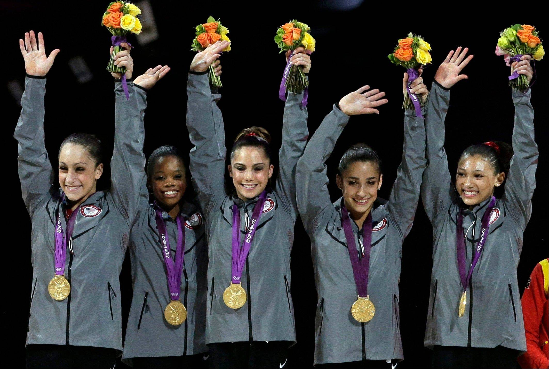 With the gymnastics competition over, the U.S. women -- Jordyn Wieber, Gabby Douglas, McKayla Maroney, Aly Raisman and Kyla Ross -- are beginning to realize just how big a deal they've become back home.