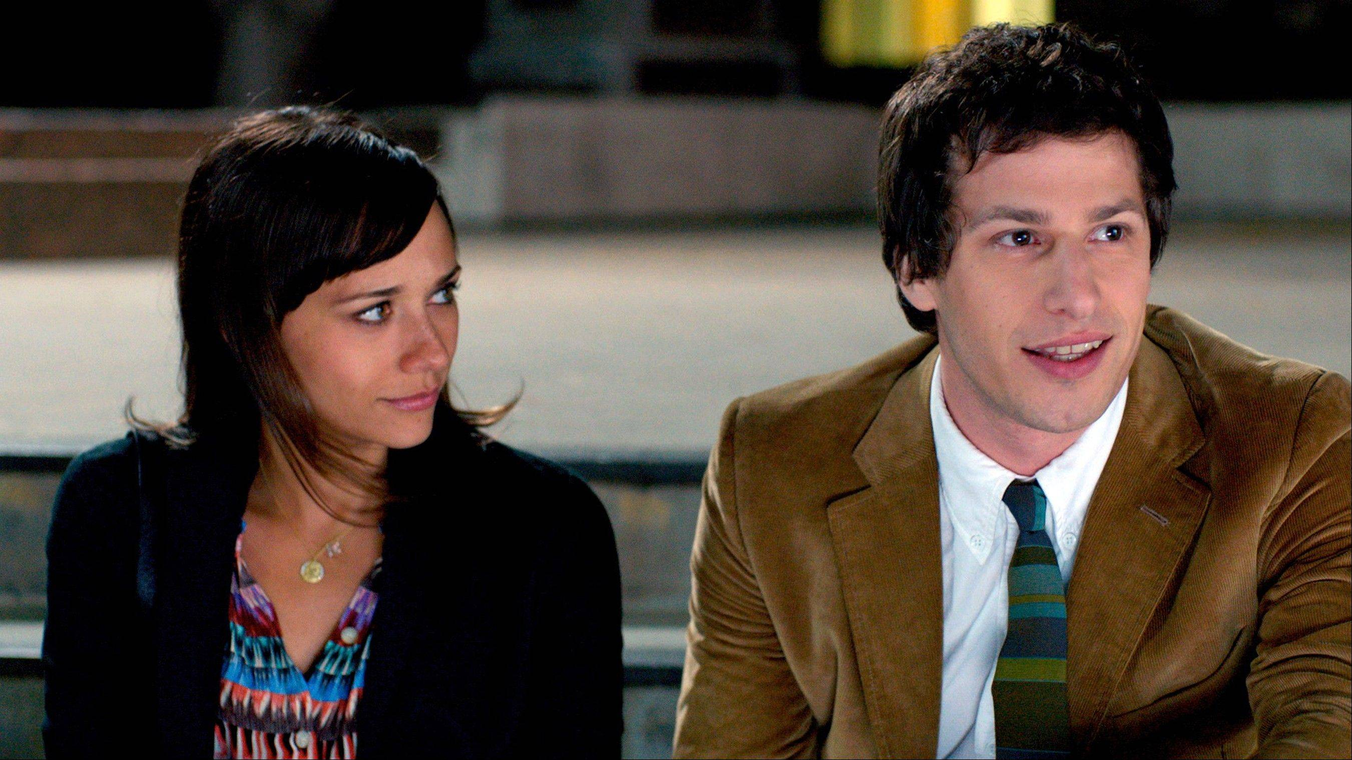 "The title couple (Rashida Jones, left, and Andy Samberg) remain close friends post-divorce in ""Celeste & Jesse Forever."""
