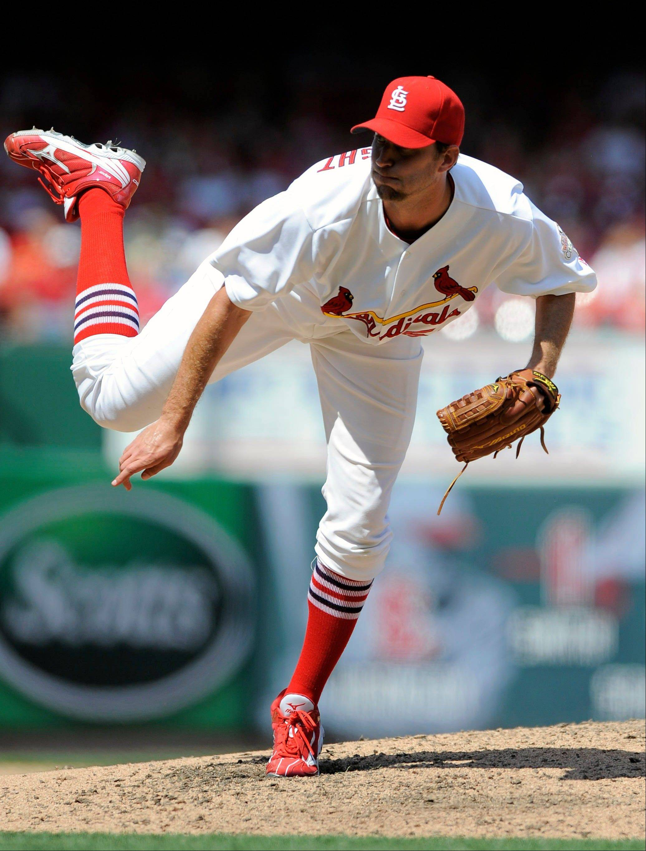 Cardinals starting pitcher Adam Wainwright struck out seven and walked three Thursday in a home victory over San Francisco.