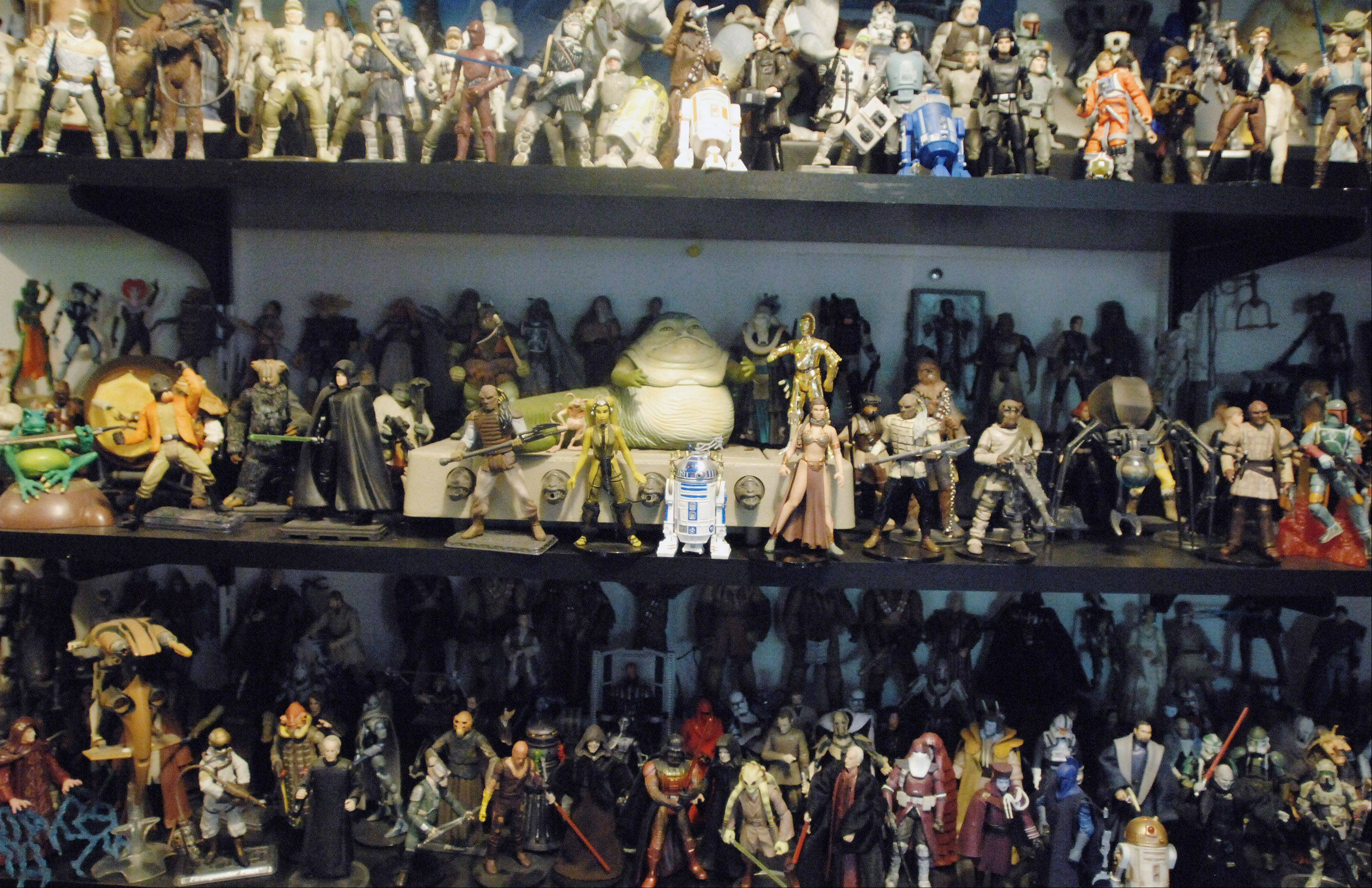 "Jimmy ""Mac"" McInerney collects ""Star Wars"" action figures."