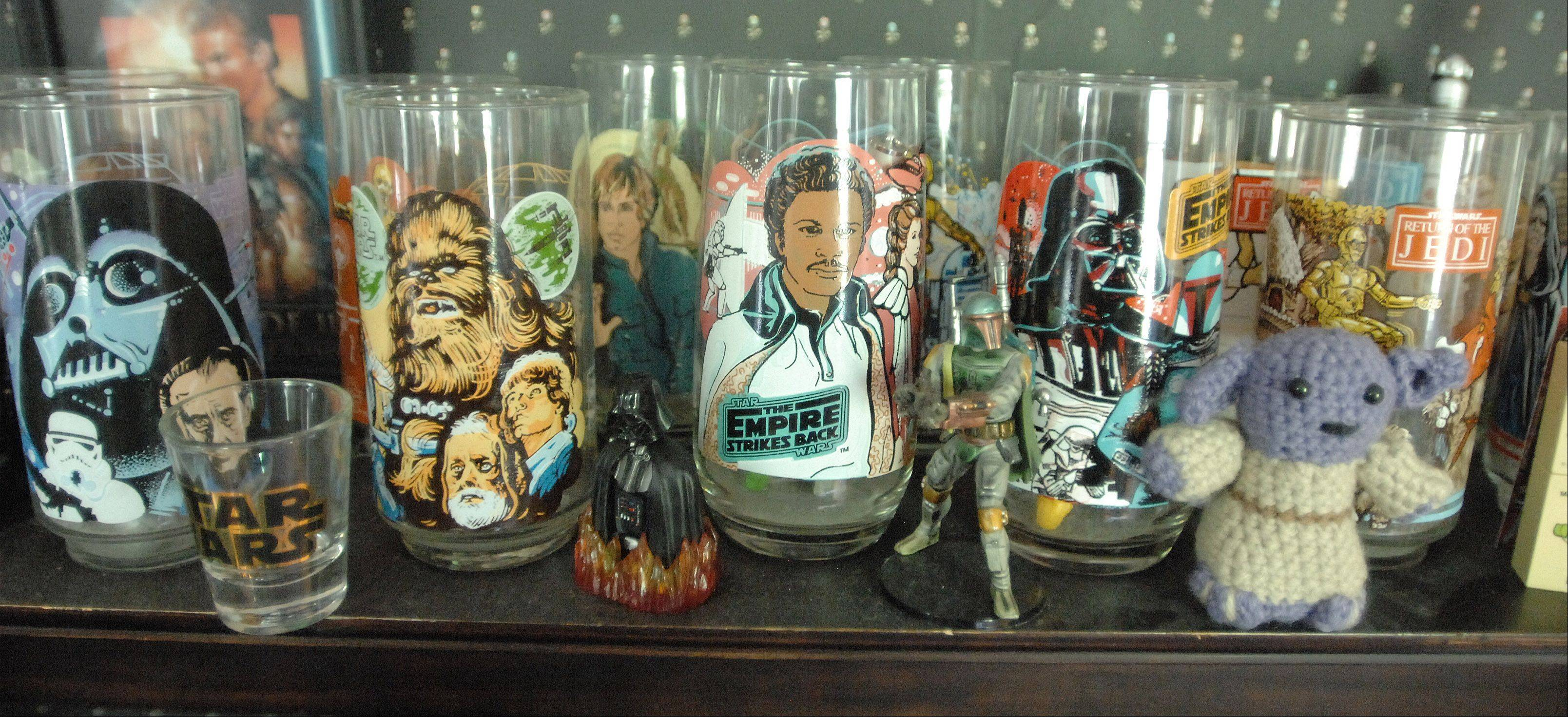 "Jimmy ""Mac"" McInerney has a collection of Burger King ""Star Wars"" glasses on display in his home."
