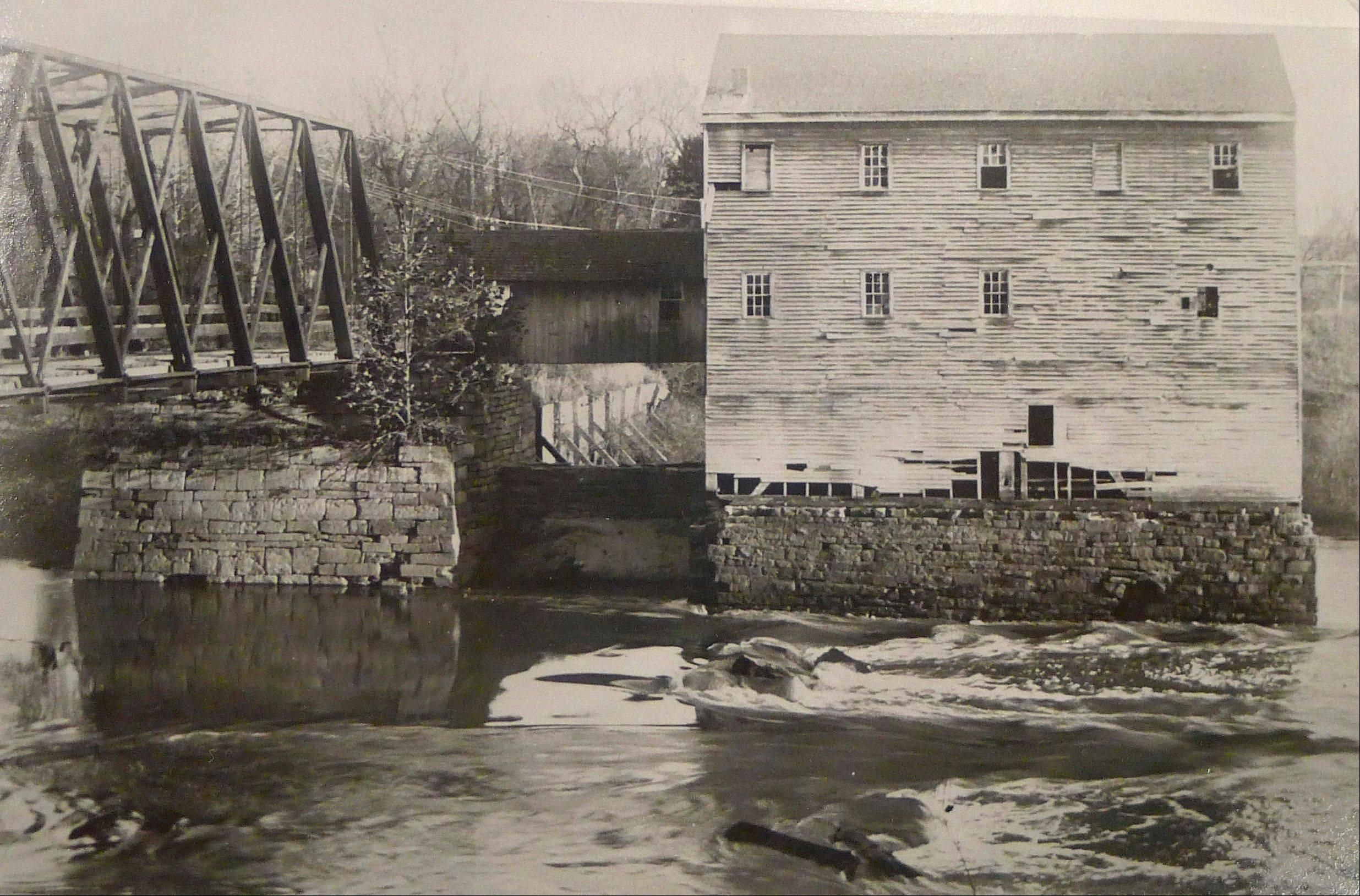 This undated photo provided by the Sangamon Valley Collection of the Lincoln Library shows the Carpenter's Mill as seen from the bluffs of Carpenter Park near Springfield.