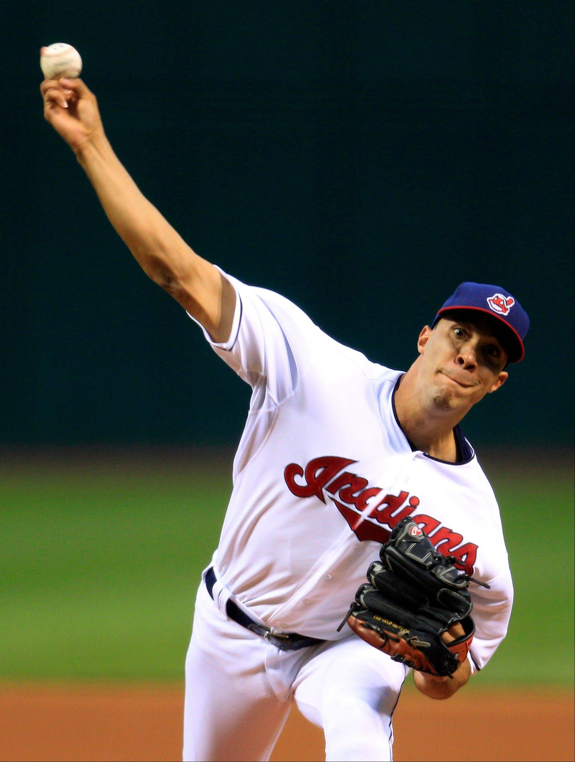 Indians starting pitcher Ubaldo Jimenez allowed three runs over six innings Thursday as Cleveland won its second straight after losing 11 in a row.