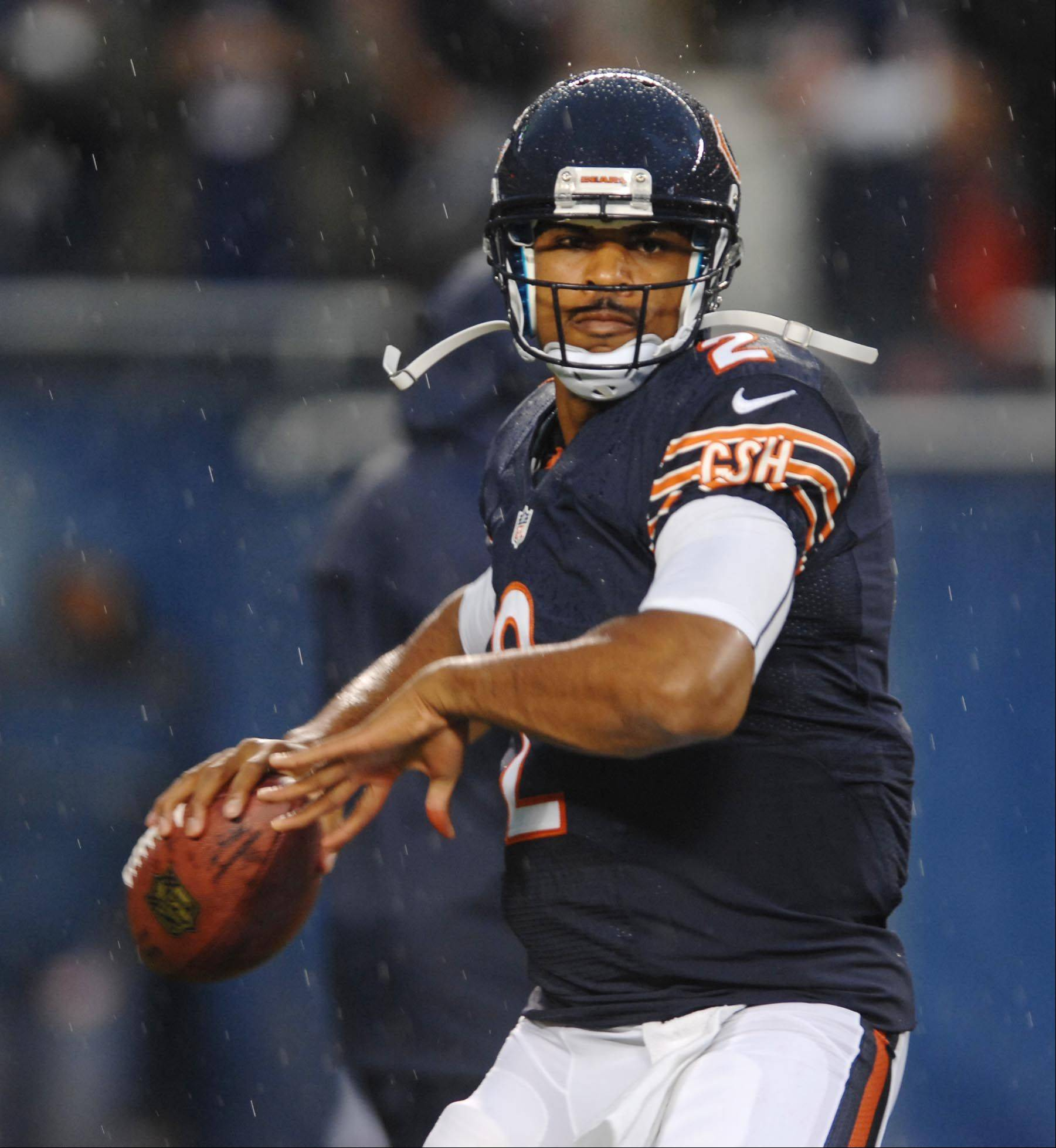 Chicago Bears quarterback Jason Campbell.