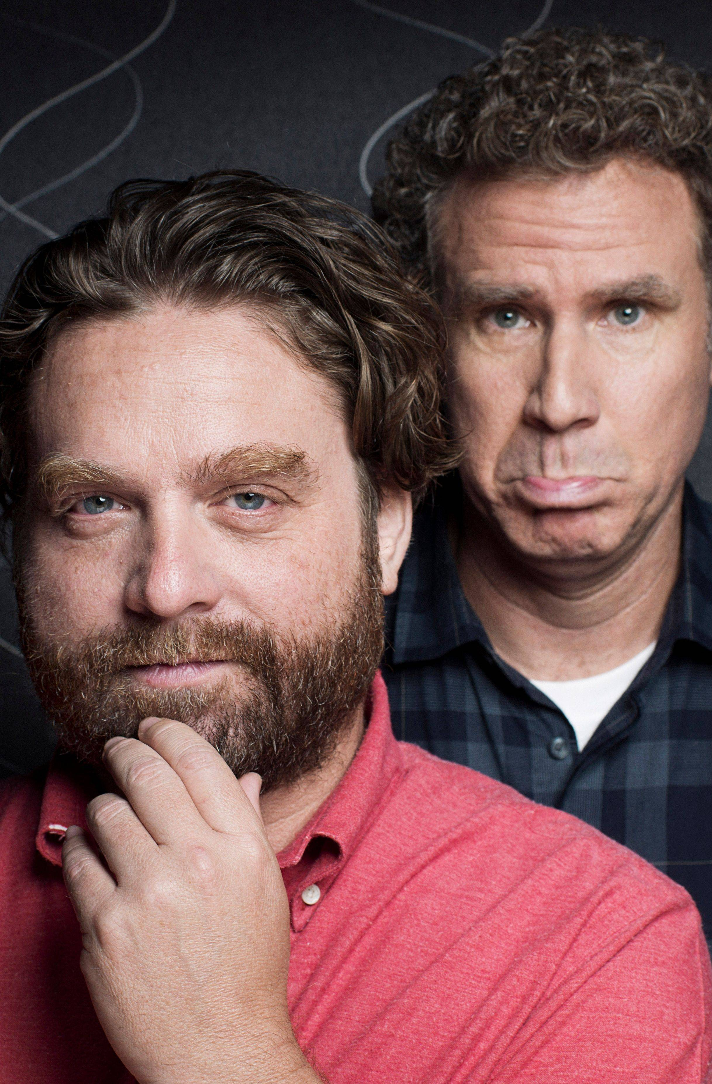 "Zach Galifianakis, left, and Will Ferrell play two North Carolina politicians competing in an increasingly nasty race in the film ""The Campaign."""