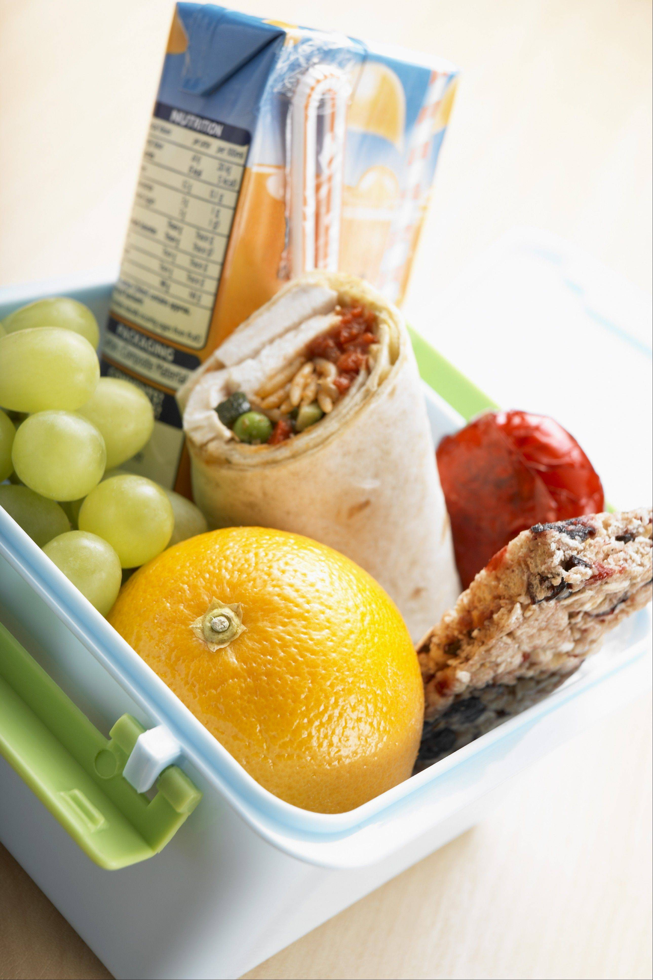 Packing healthy foods can help teach your children to make food choices that are good for them.