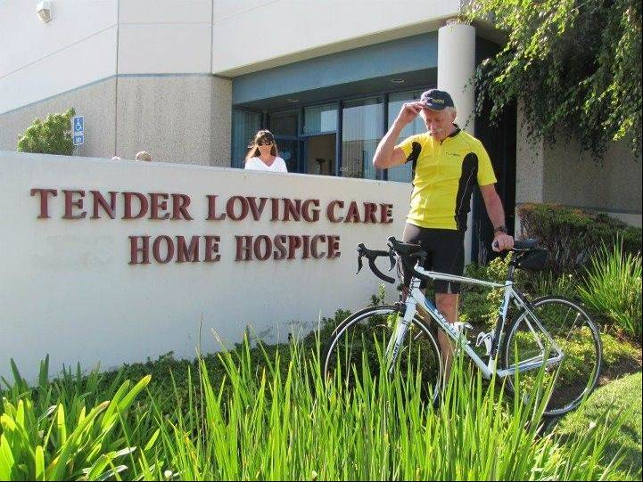 63-year-old Jim Windass started his journey at Loving Heart Hospice in Los Angeles and will end Aug. 27 at Rainbow Hospice in Mount Prospect.