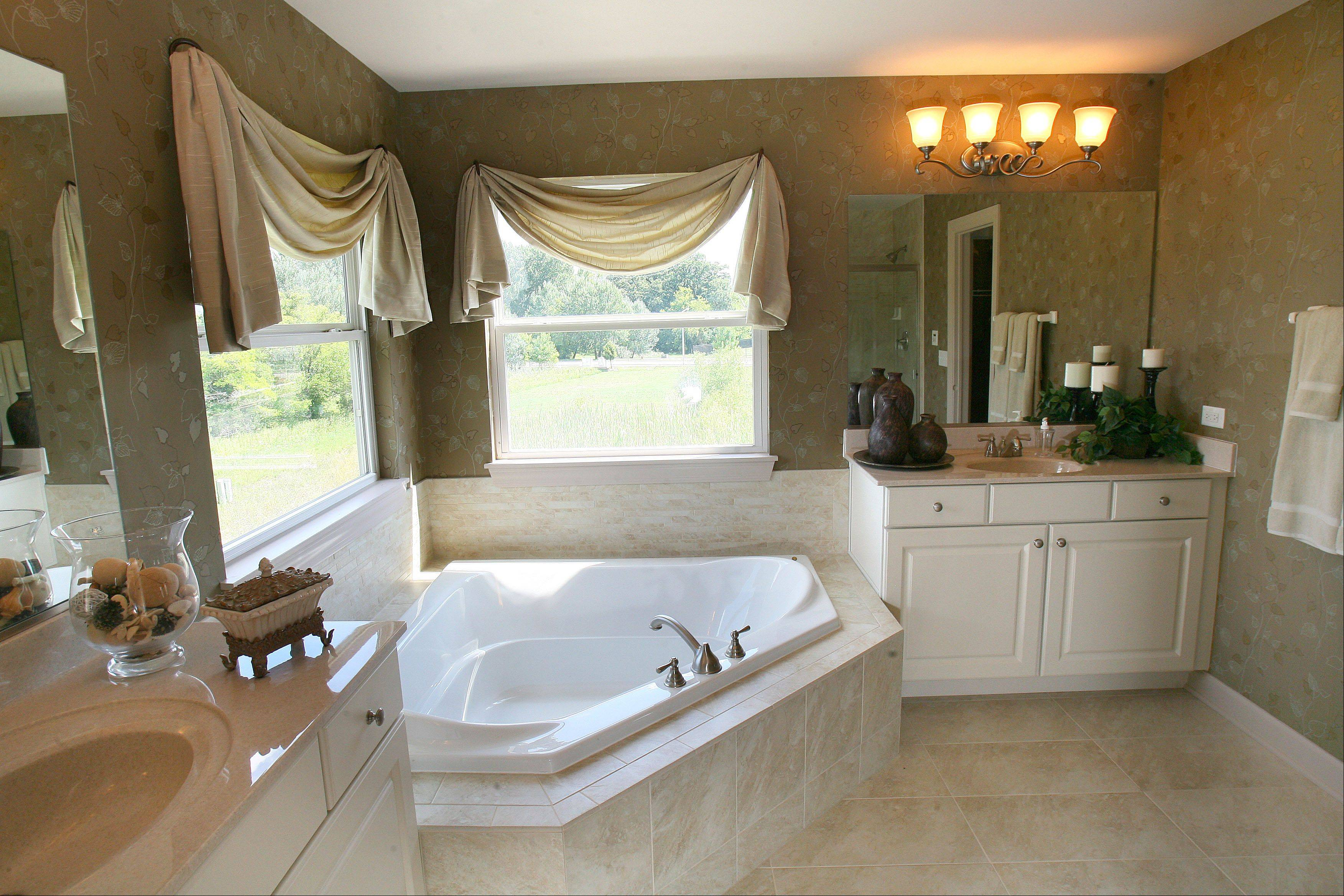 To get away from it all, the master suite provides a soothing setting and private bath.